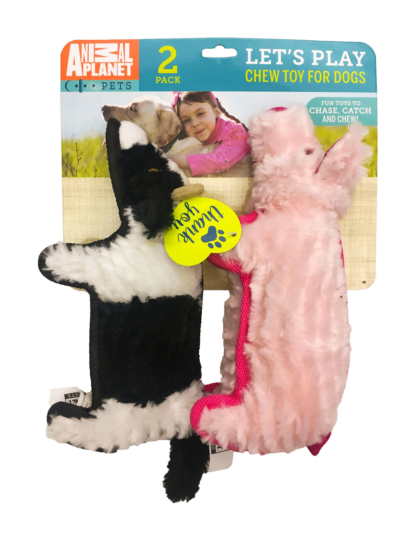 Animal Planet Pink / White / Black Pet Treats & Toys