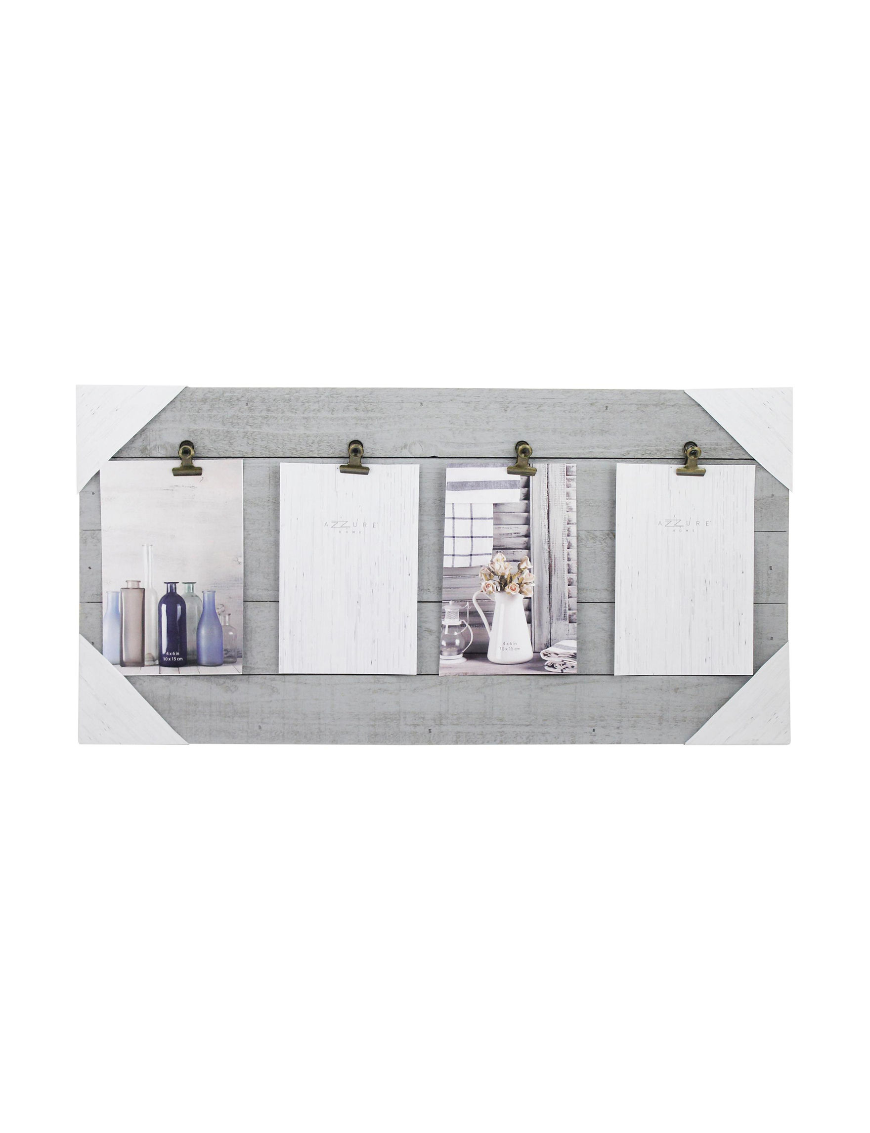 Azzure Home Grey Decorative Objects Frames & Shadow Boxes