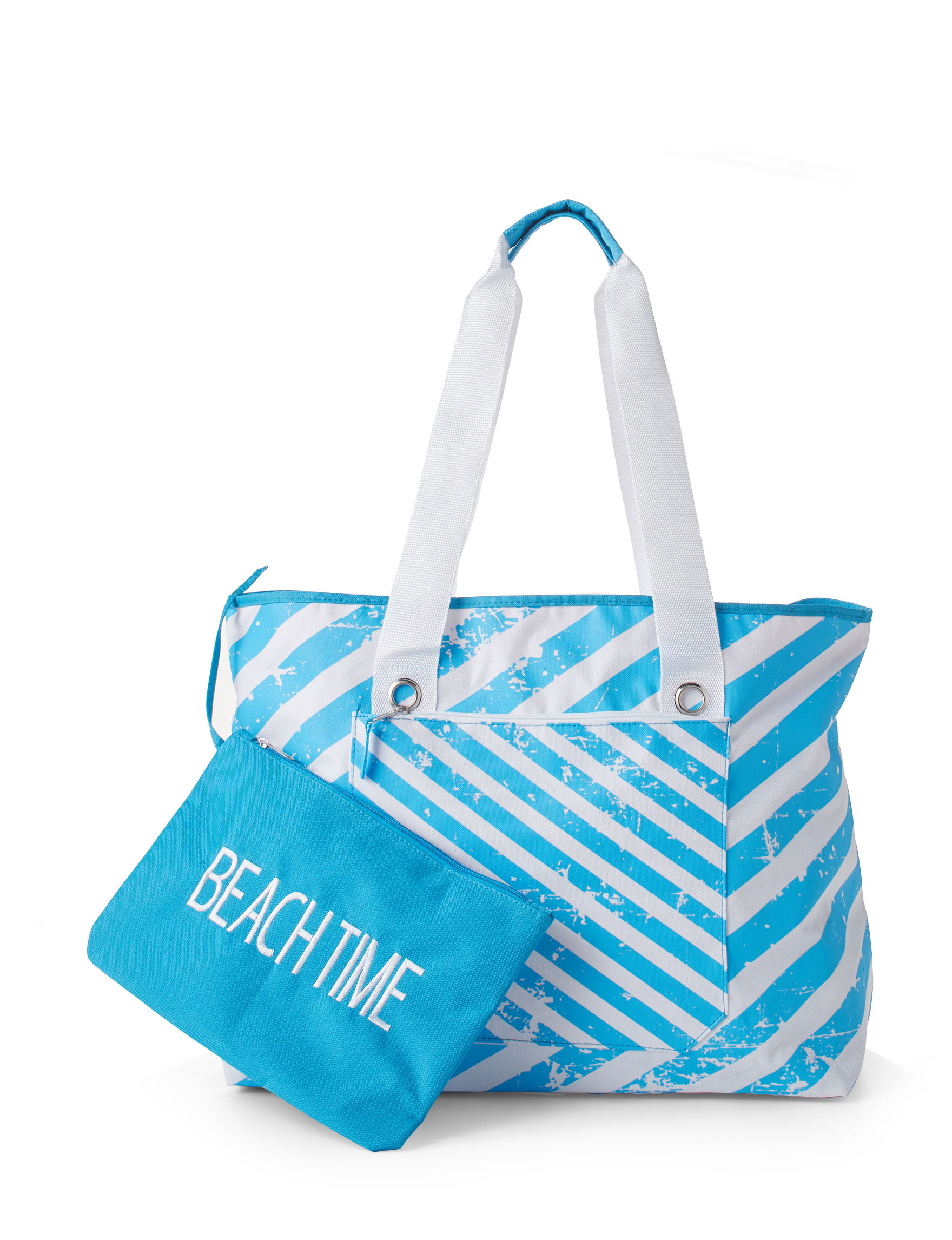 Life is a Beach White / Blue Travel Totes
