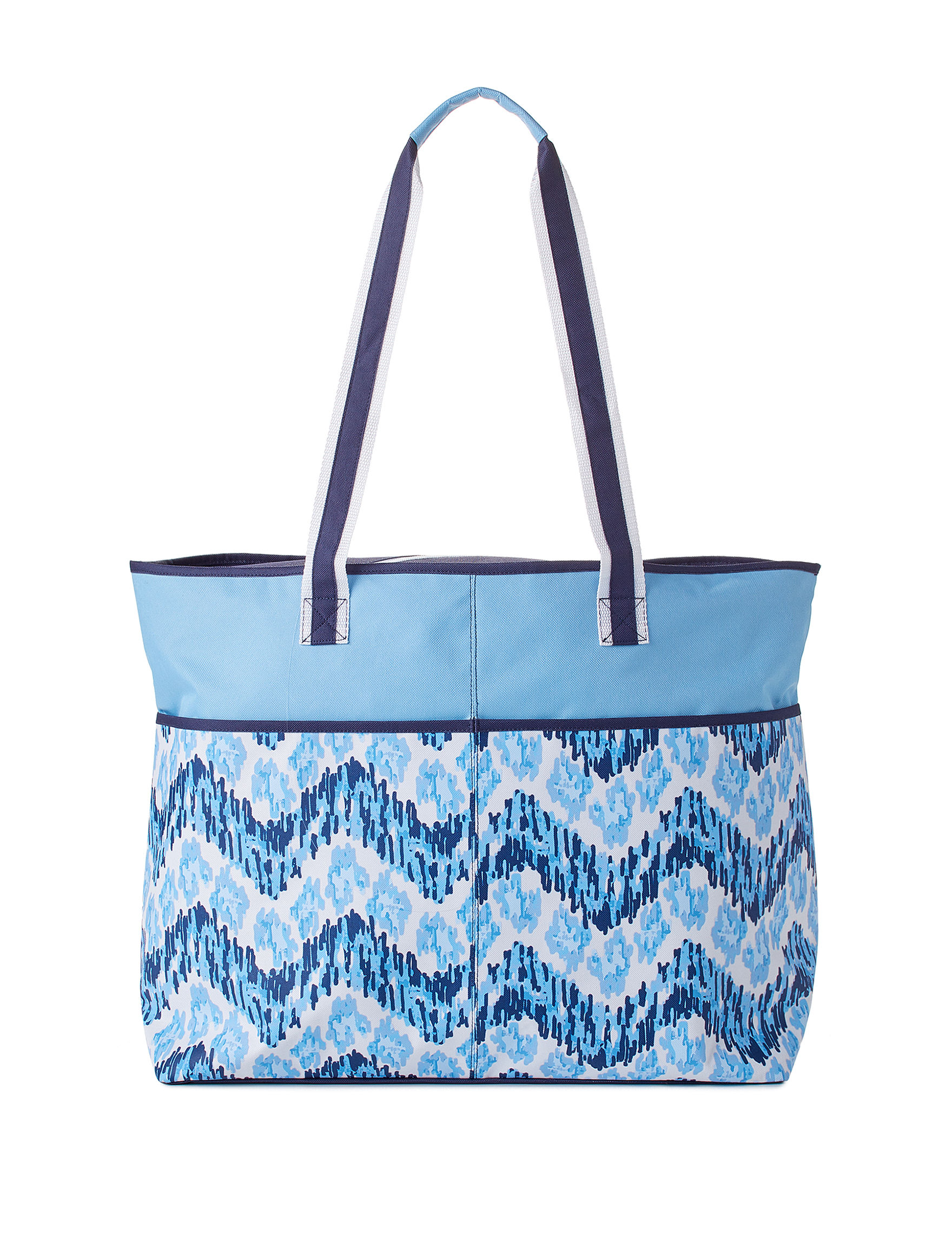 Life is a Beach Blue Travel Totes