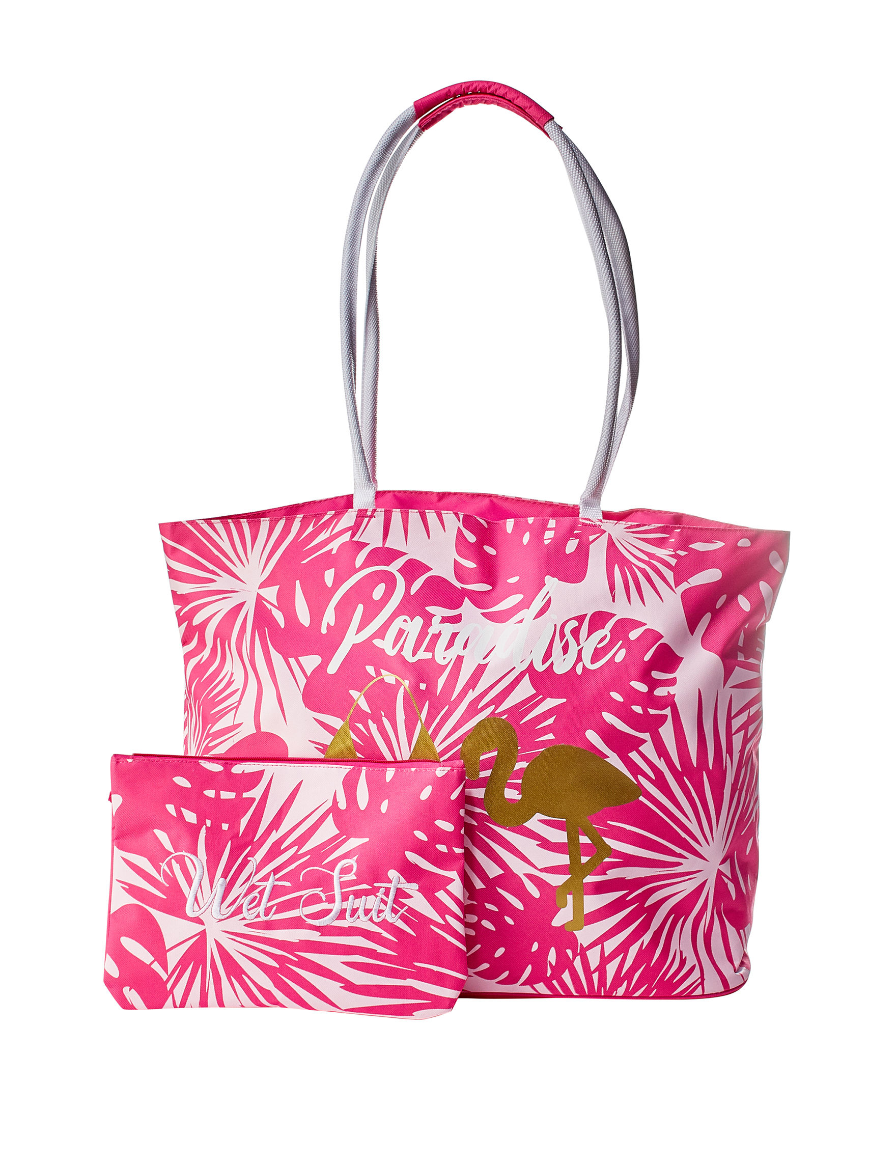 Life is a Beach Pink Travel Totes