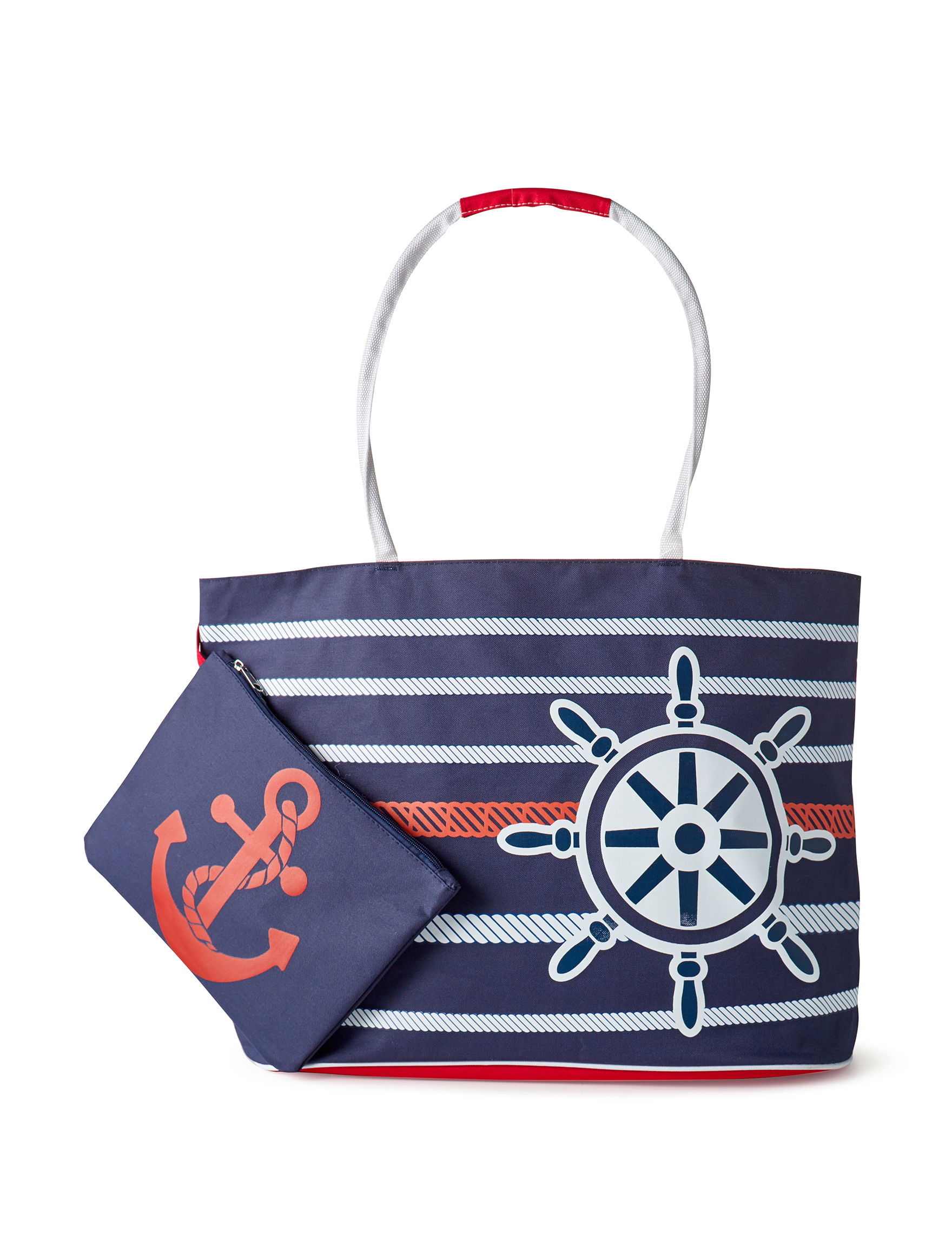 Life is a Beach Navy / White / Red Travel Totes