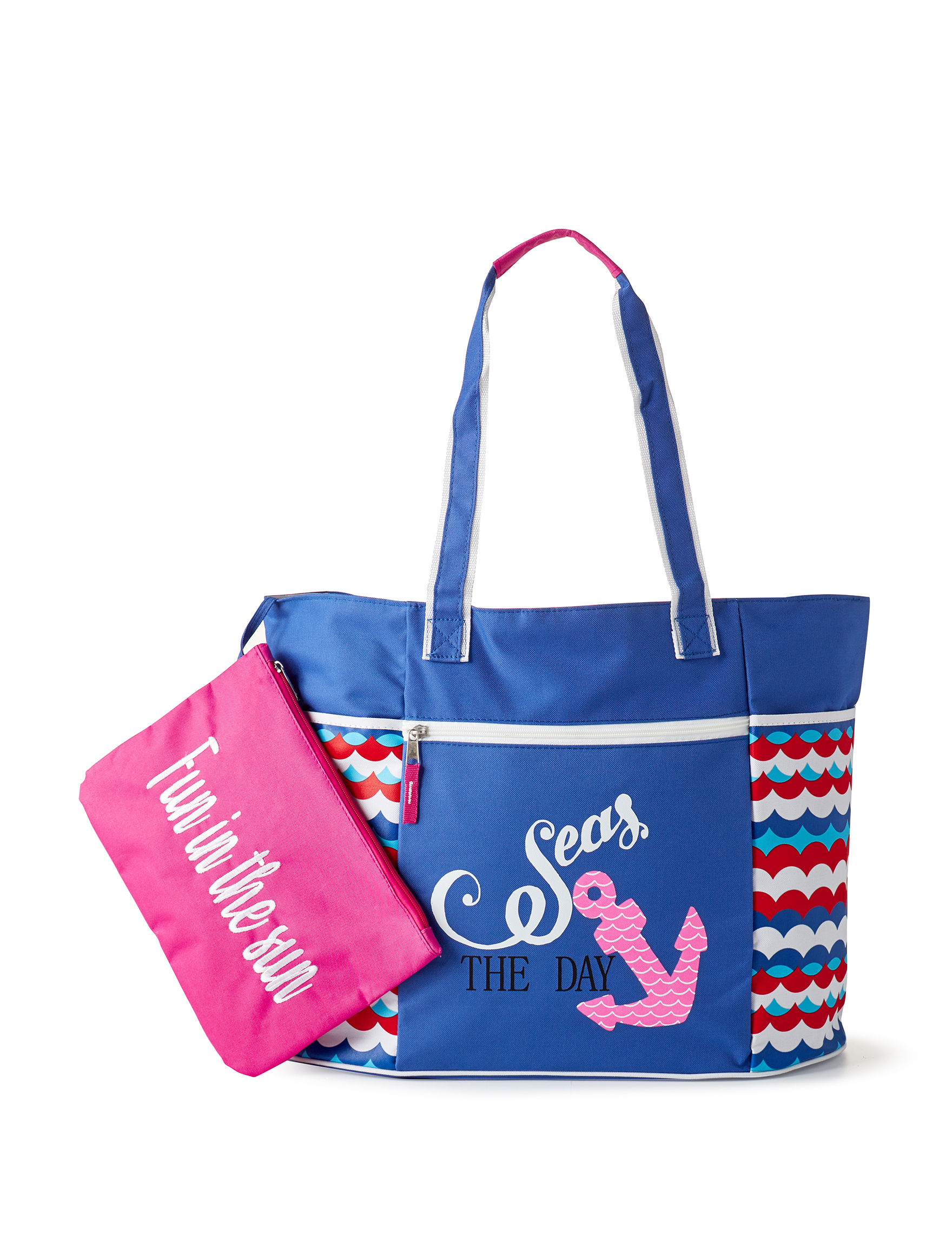 Life is a Beach Blue Multi Travel Totes