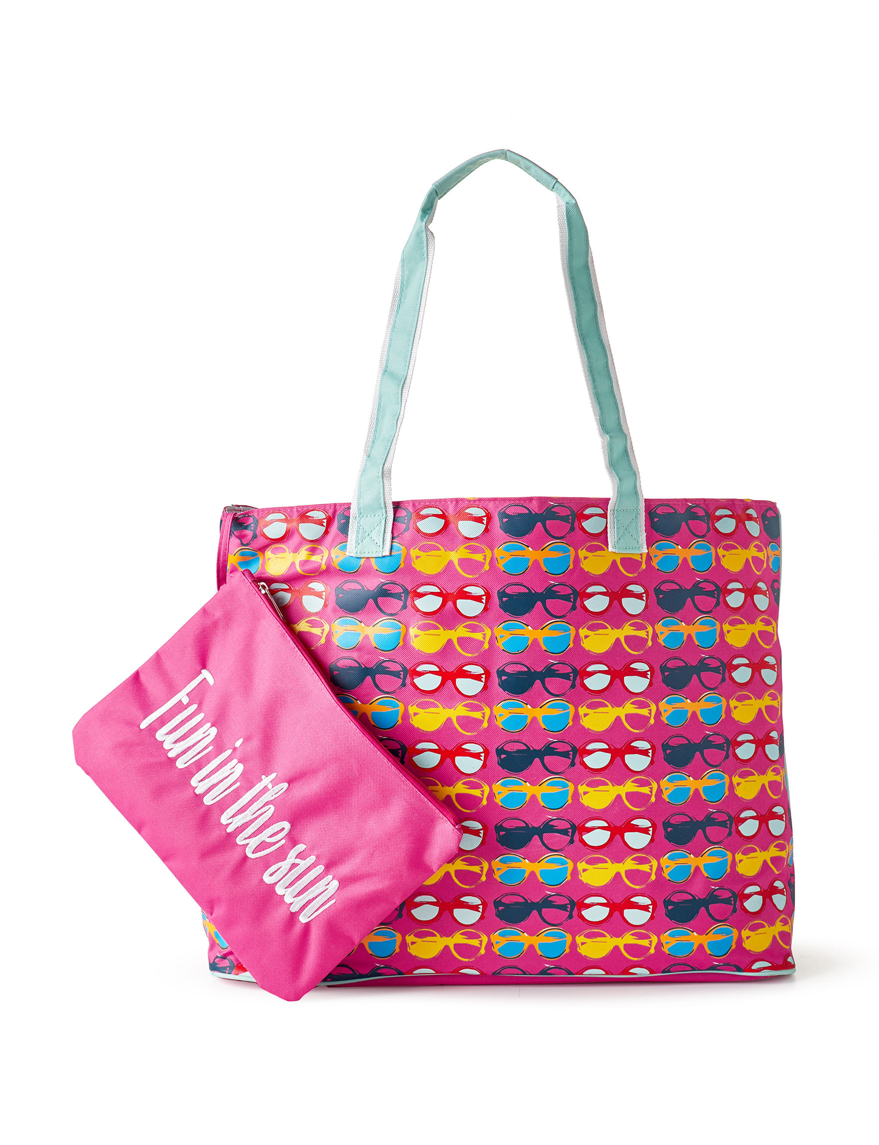 Life is a Beach Pink Multi Travel Totes