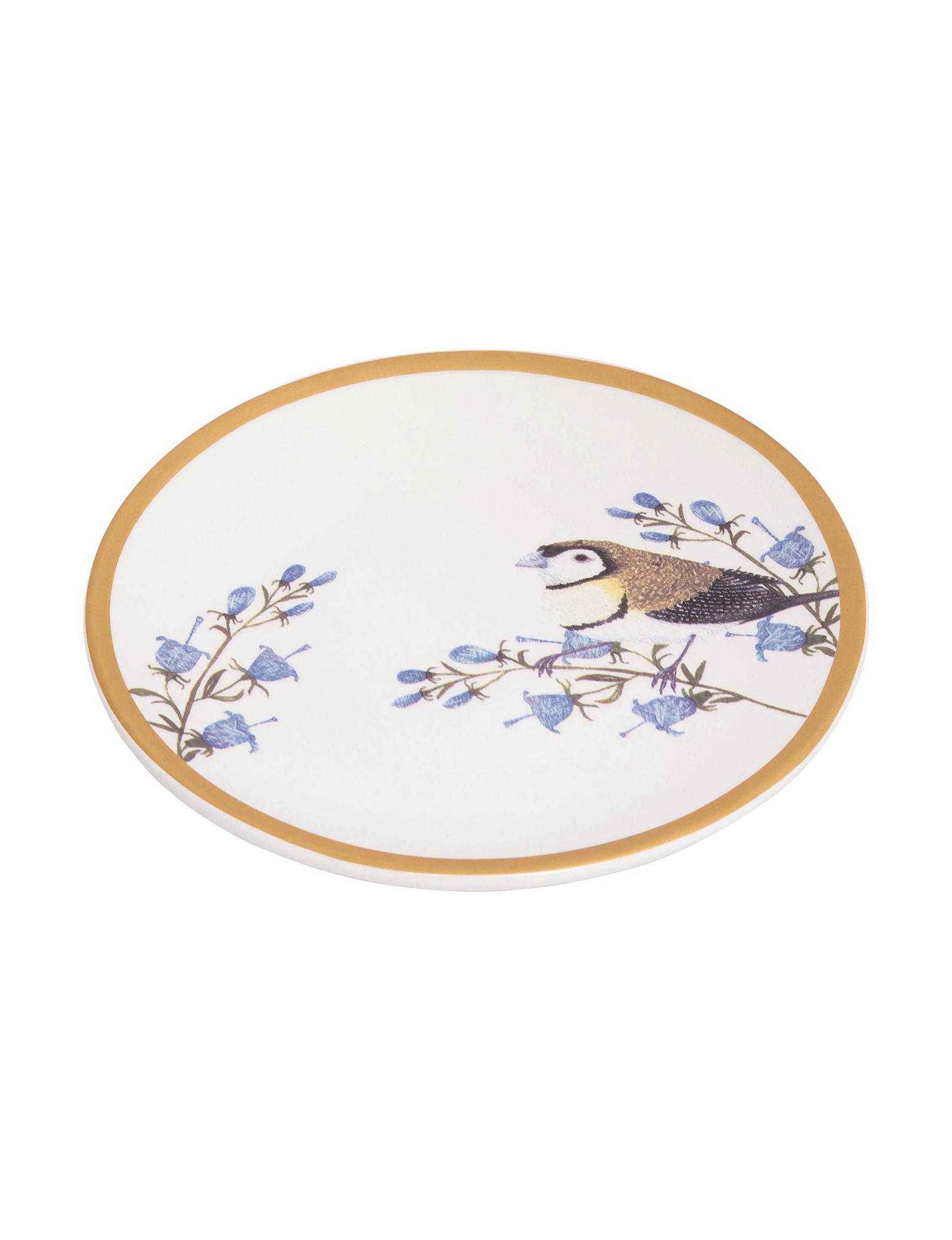 Transpac White Multi Plates Dinnerware