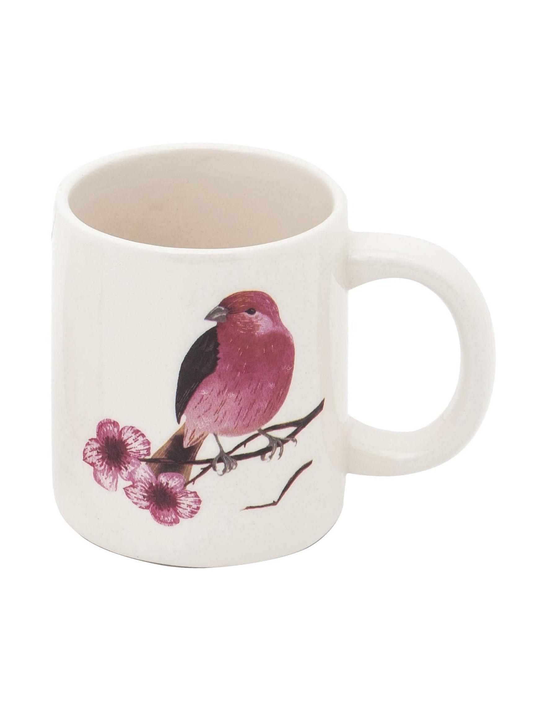 Transpac White / Pink Multi Mugs Drinkware