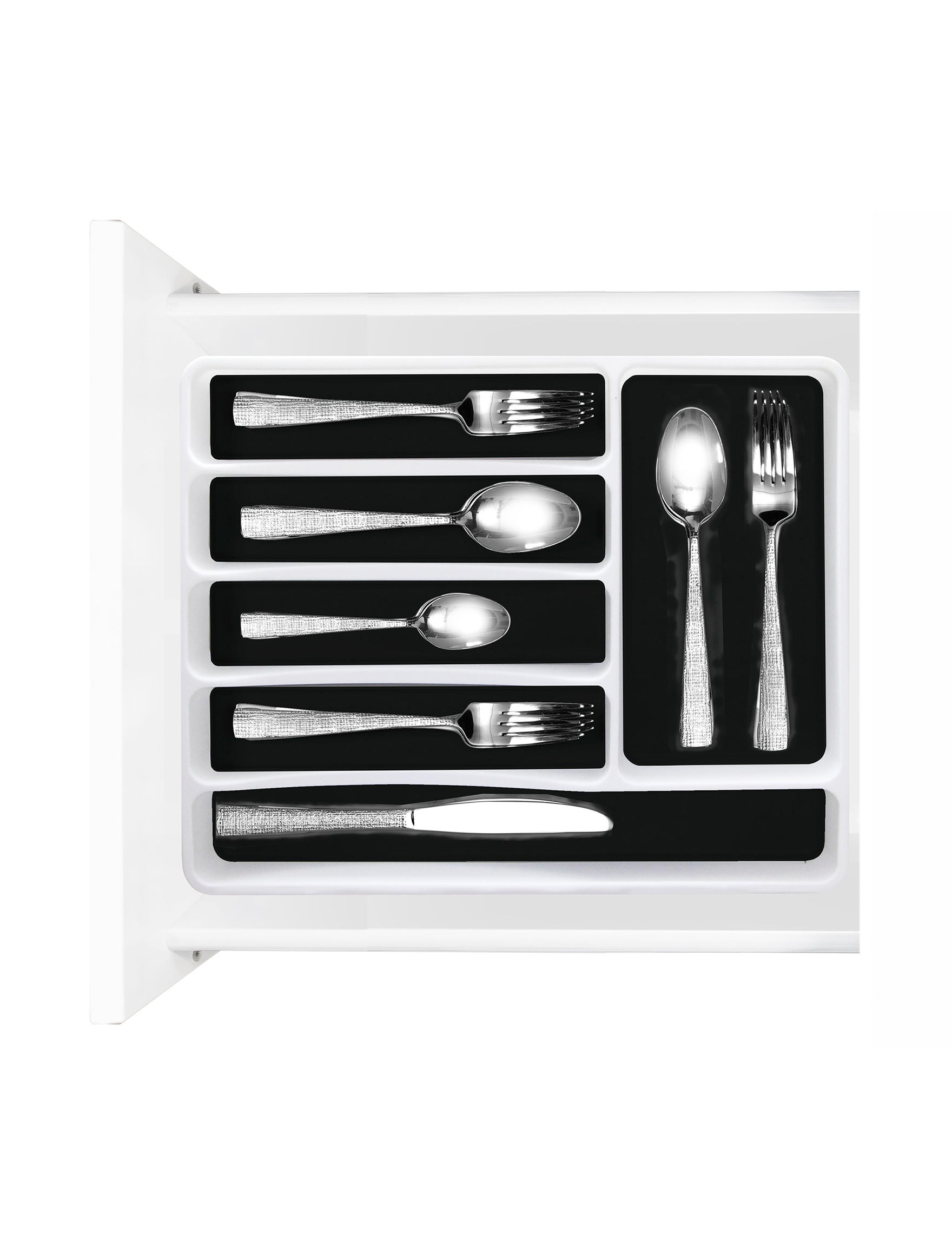 Farberware White / Black Flatware & Utensil Storage Kitchen Storage & Organization
