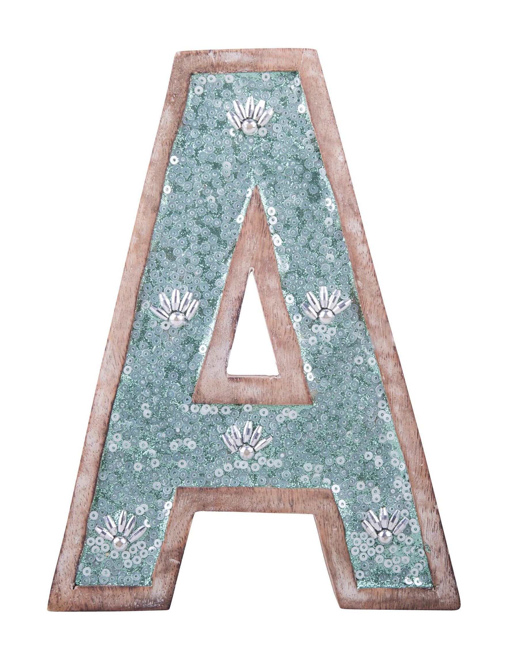 Home Essentials Turquoise / Brown Monogram Home Accents