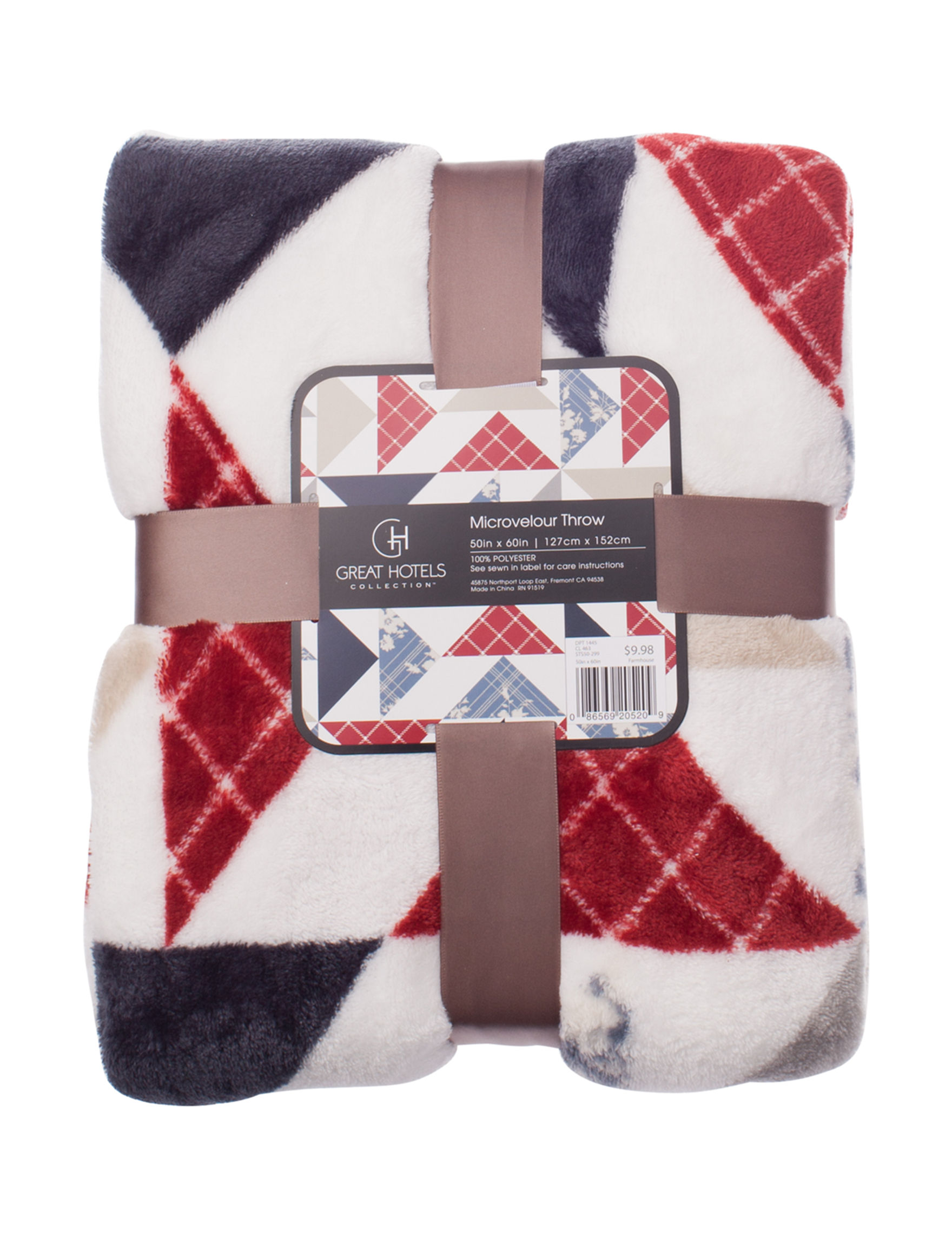 Great Hotels Collection Red / White / Blue Blankets & Throws