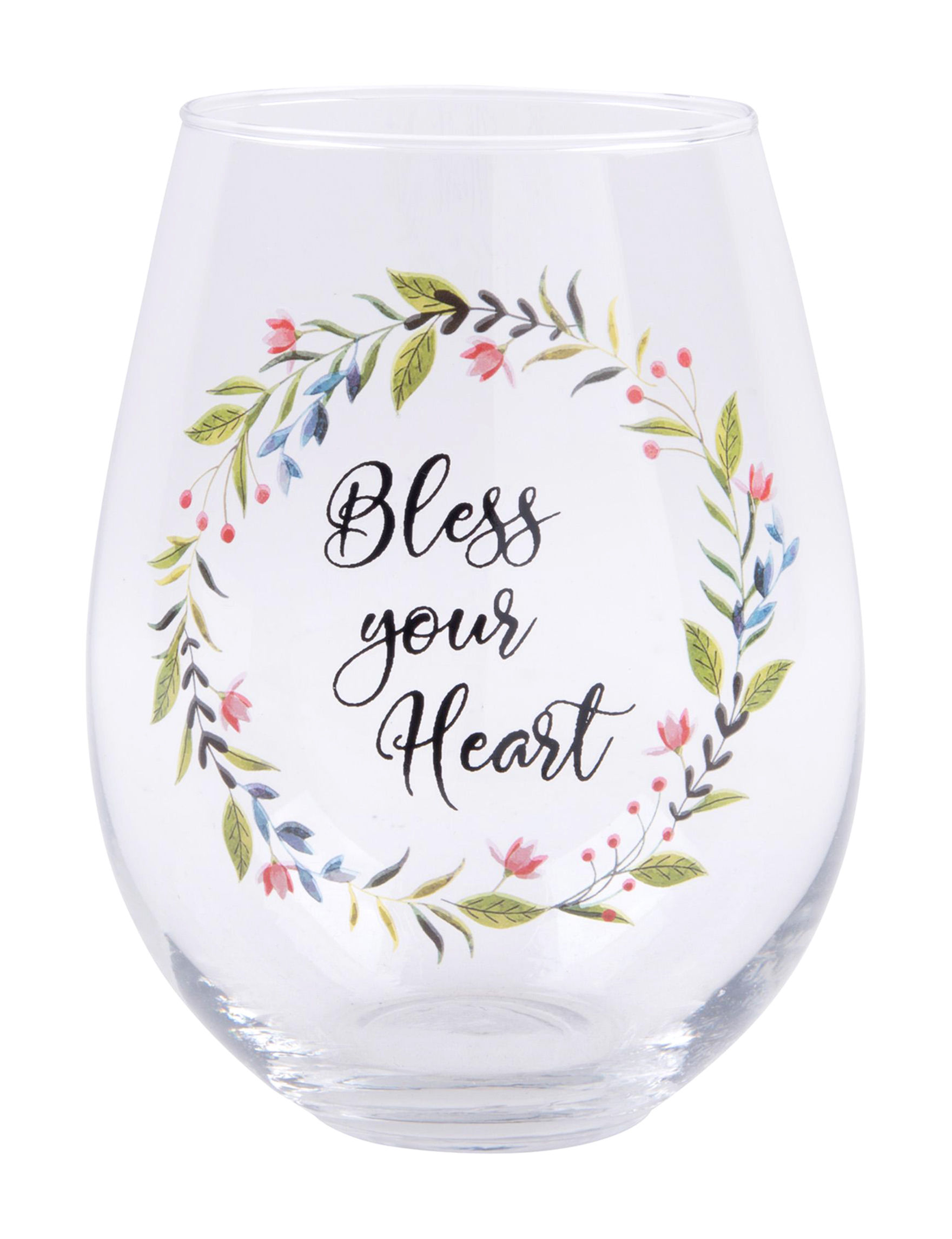 Home Essentials Floral Wine Glasses Drinkware