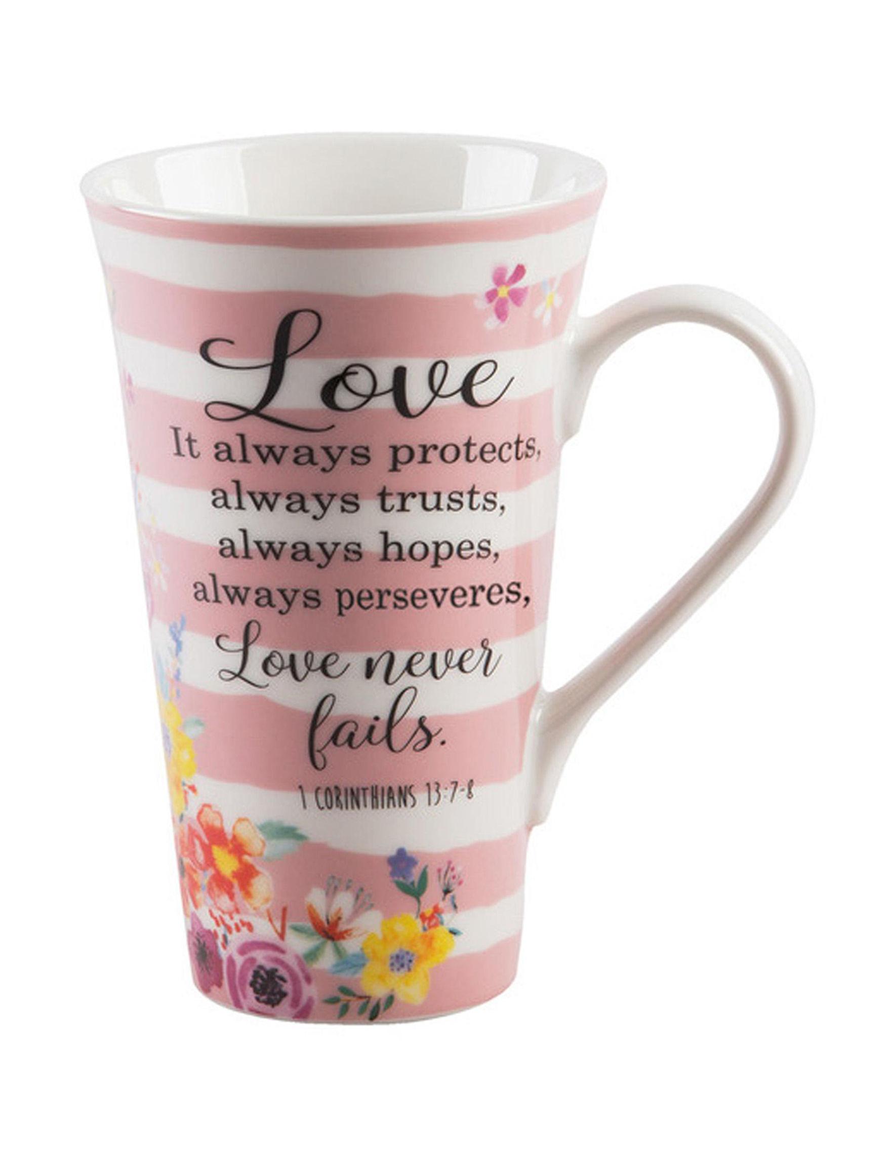 Home Essentials Pink Multi Mugs Drinkware