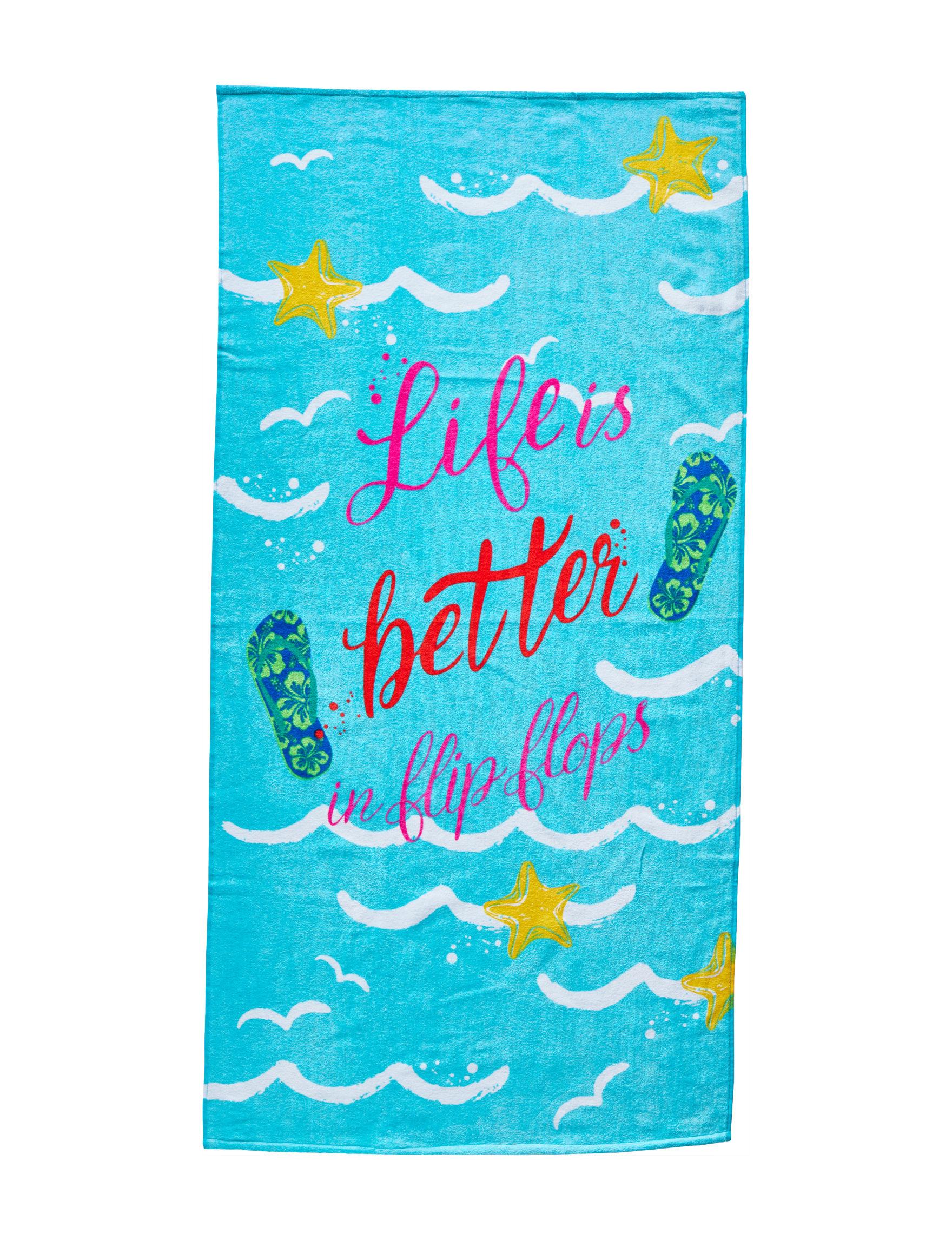 Peri Aqua Beach Towels Towels