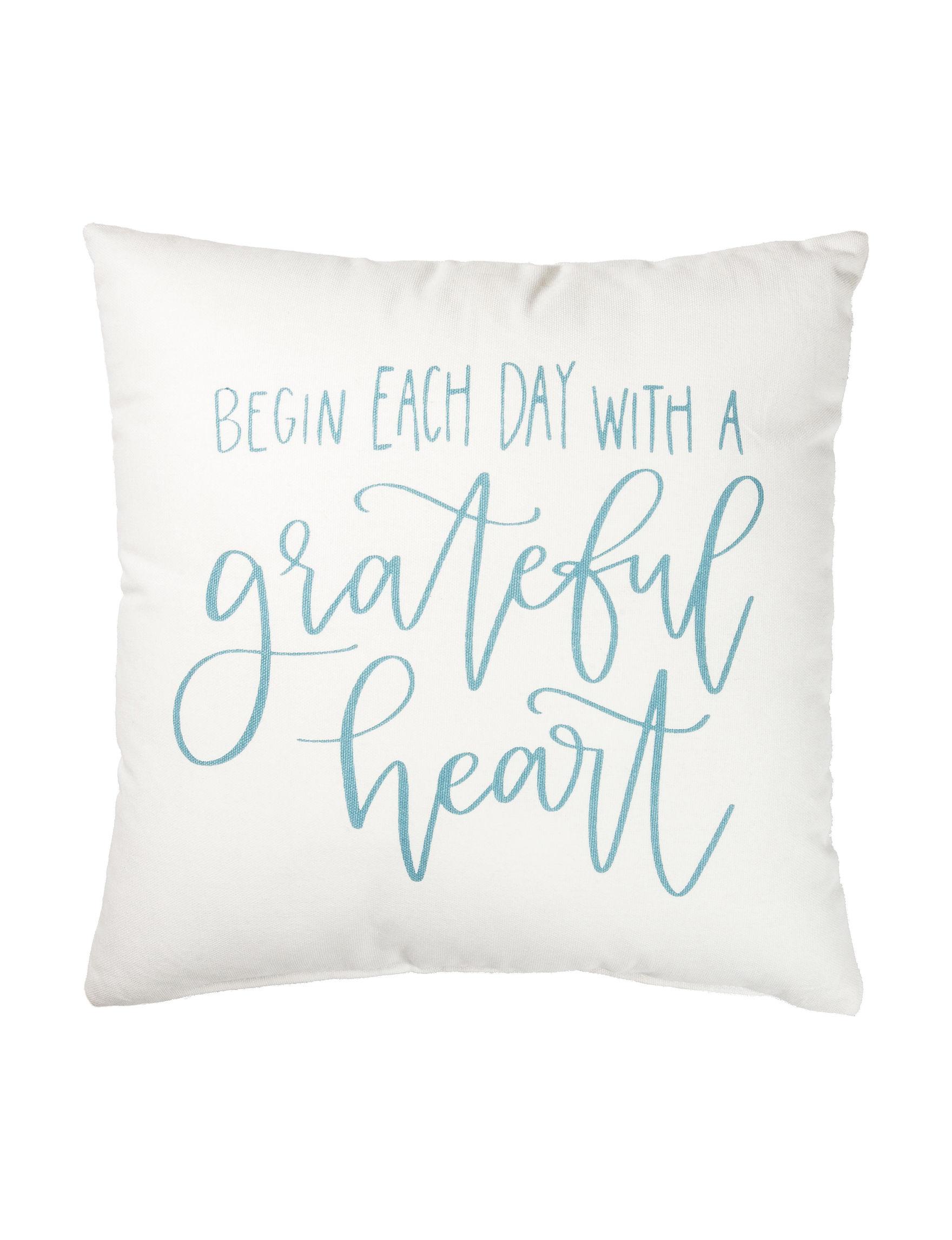 Primitives by Kathy White / Aqua Decorative Pillows