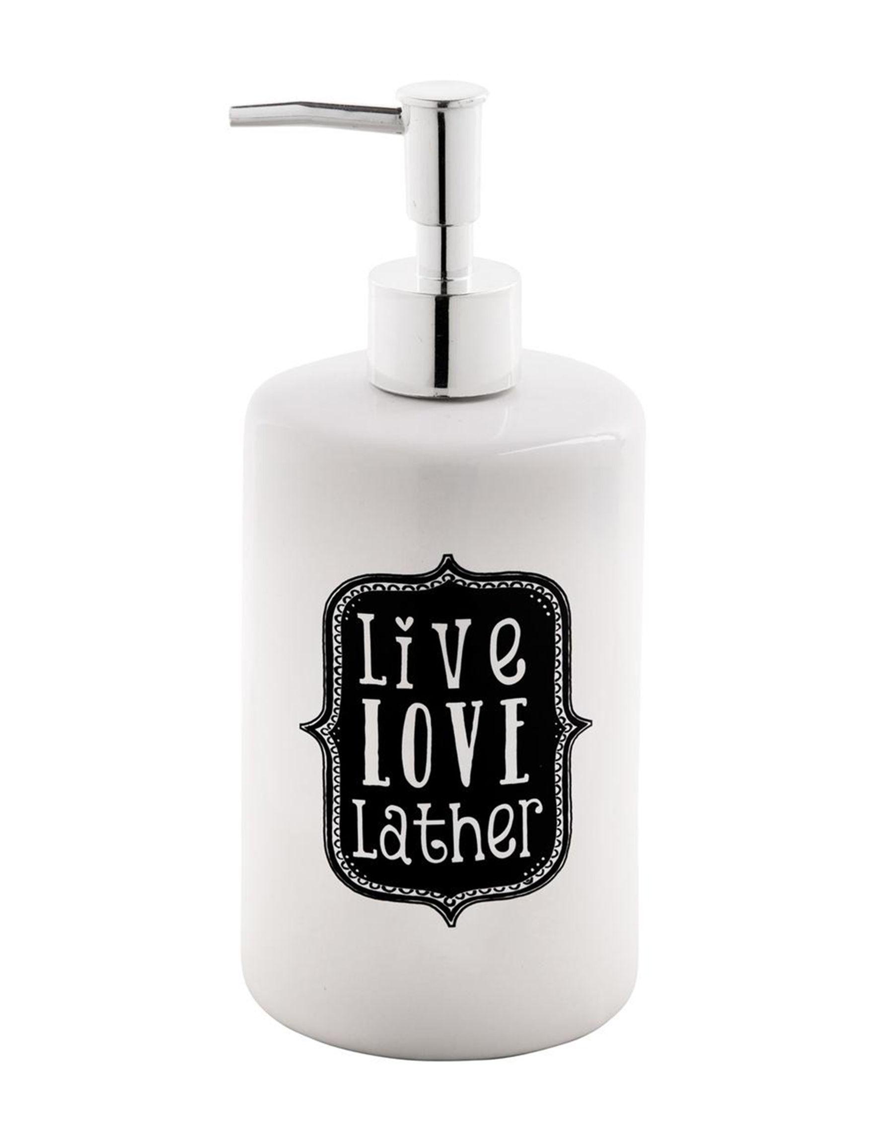 Home Essentials White / Black / Silver Soap & Lotion Dispensers Bath Accessories