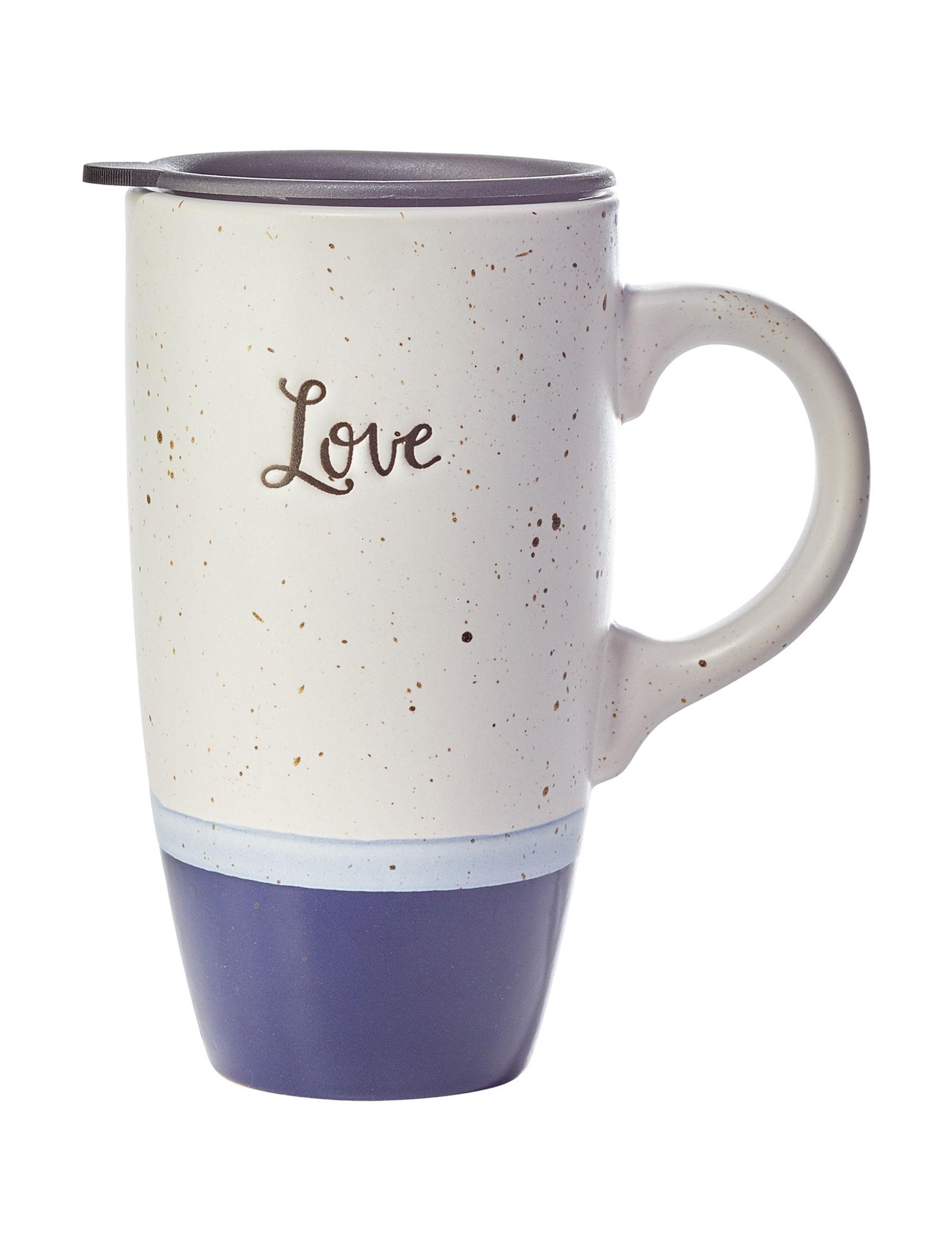 Enchante White / Black Mugs Drinkware