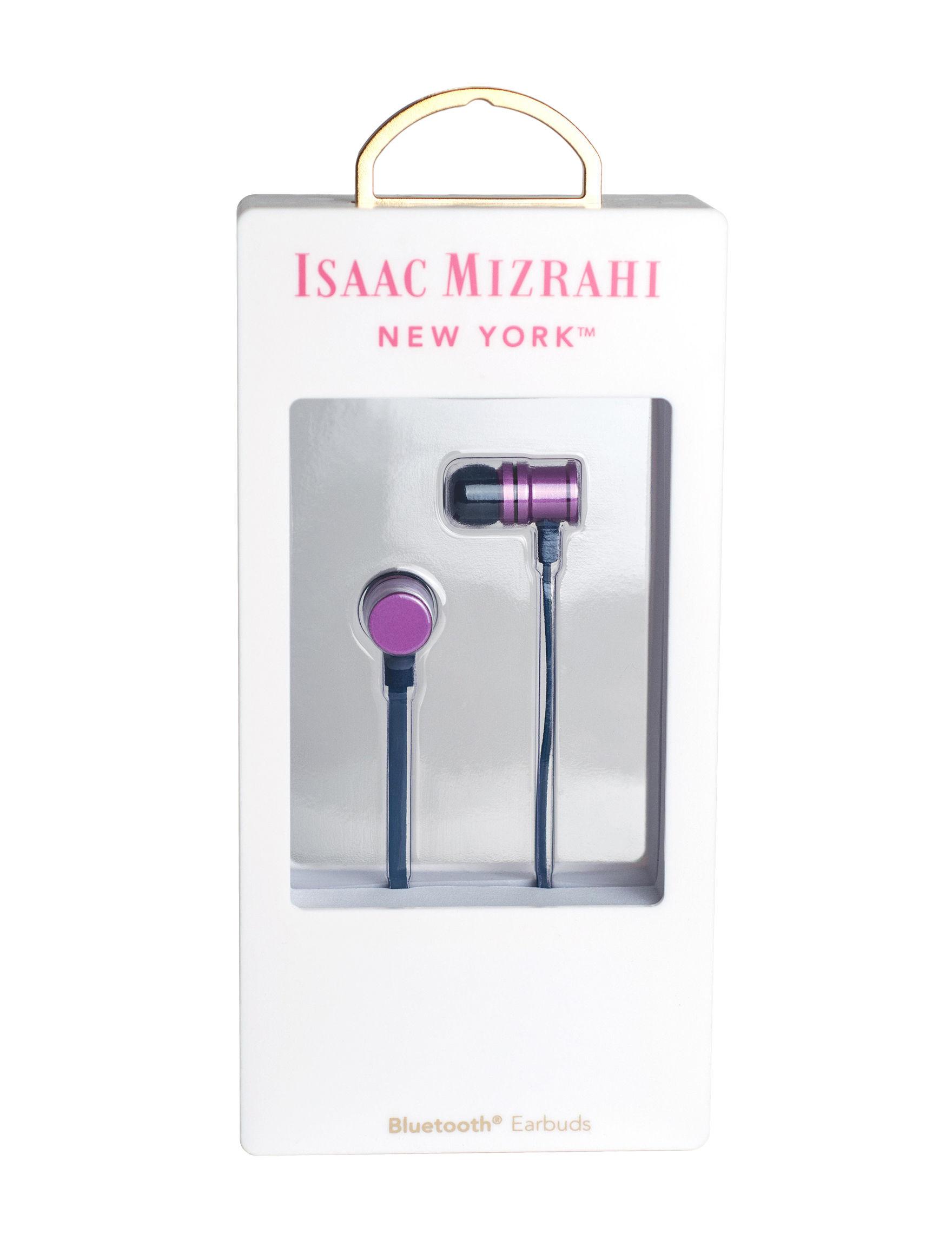 Isaac Mizrahi Purple Headphones Home & Portable Audio Tech Accessories