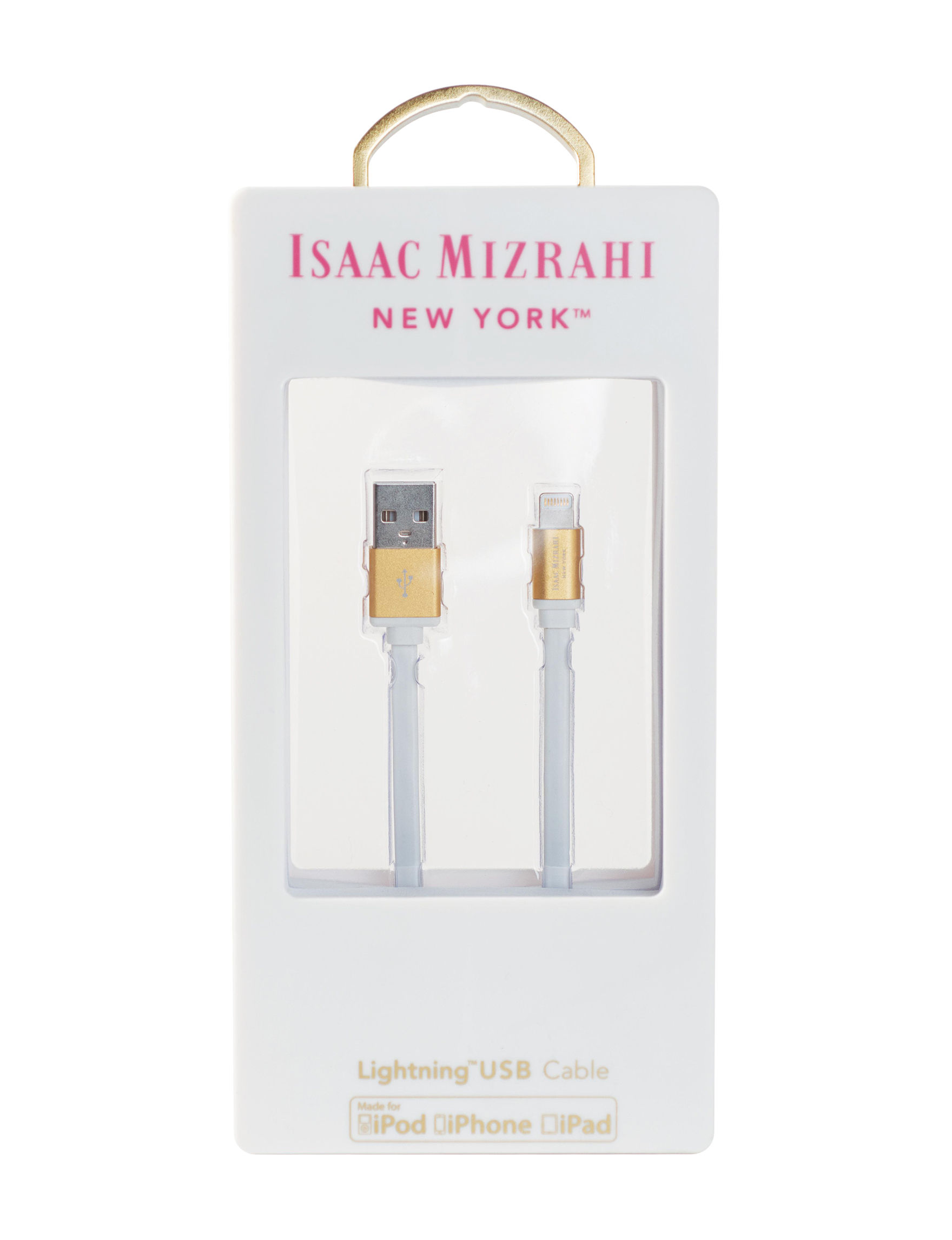 Isaac Mizrahi White Cables & Outlets Tech Accessories