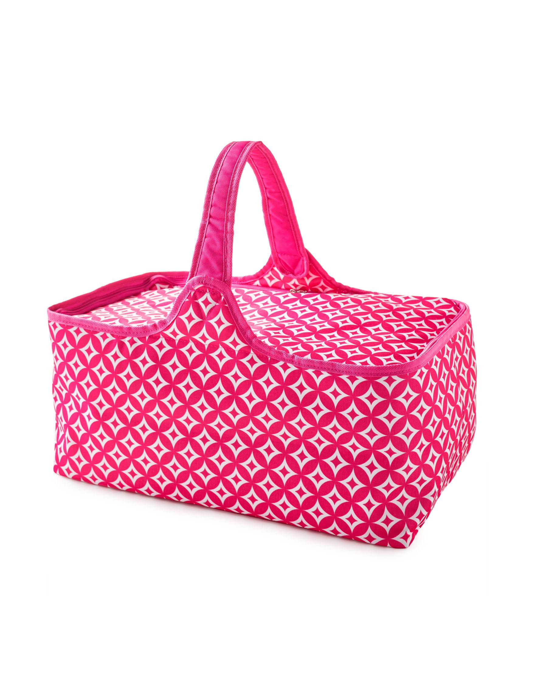 Home Essentials Pink Multi Travel Totes