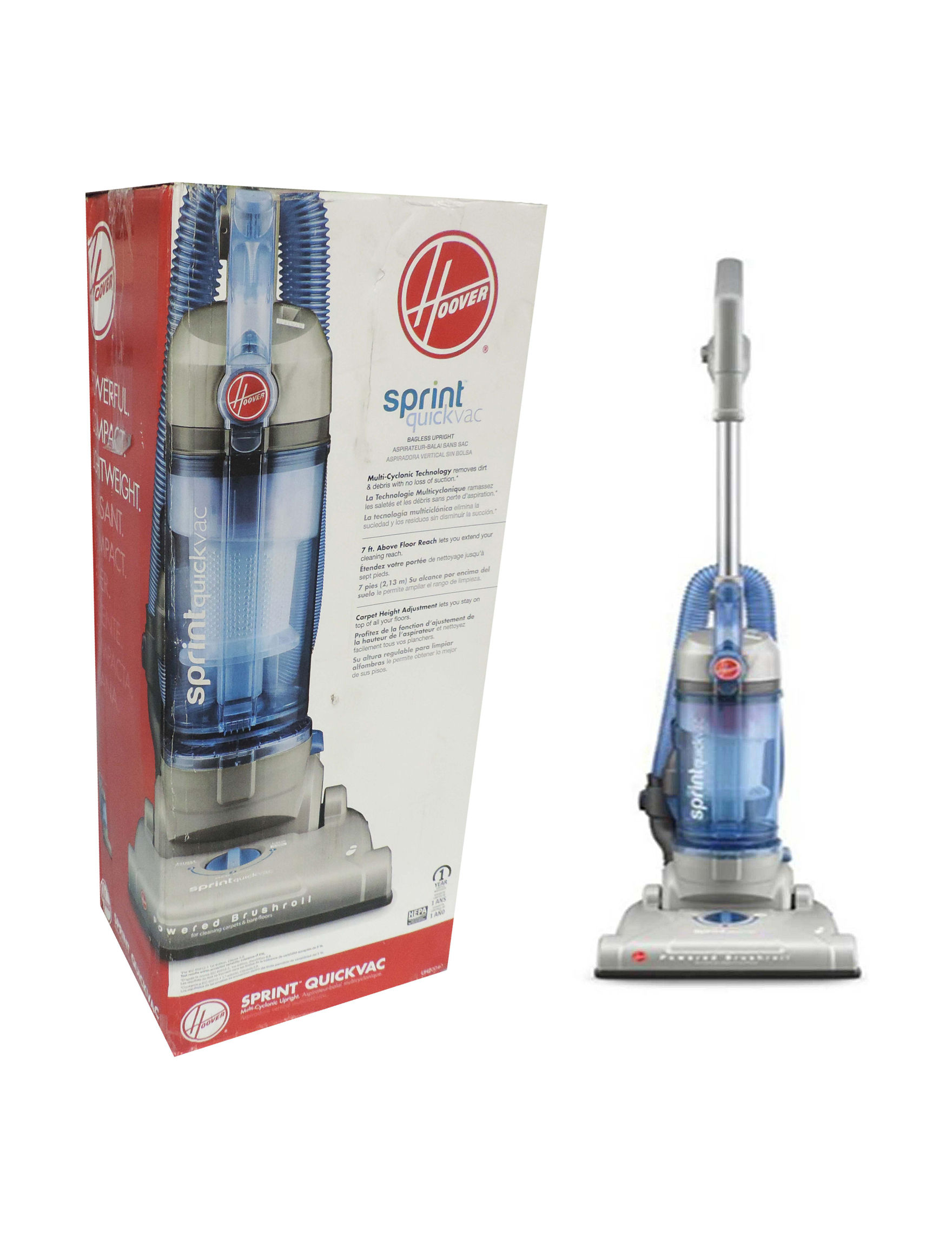 Hoover White / Blue Vacuums & Floor Care