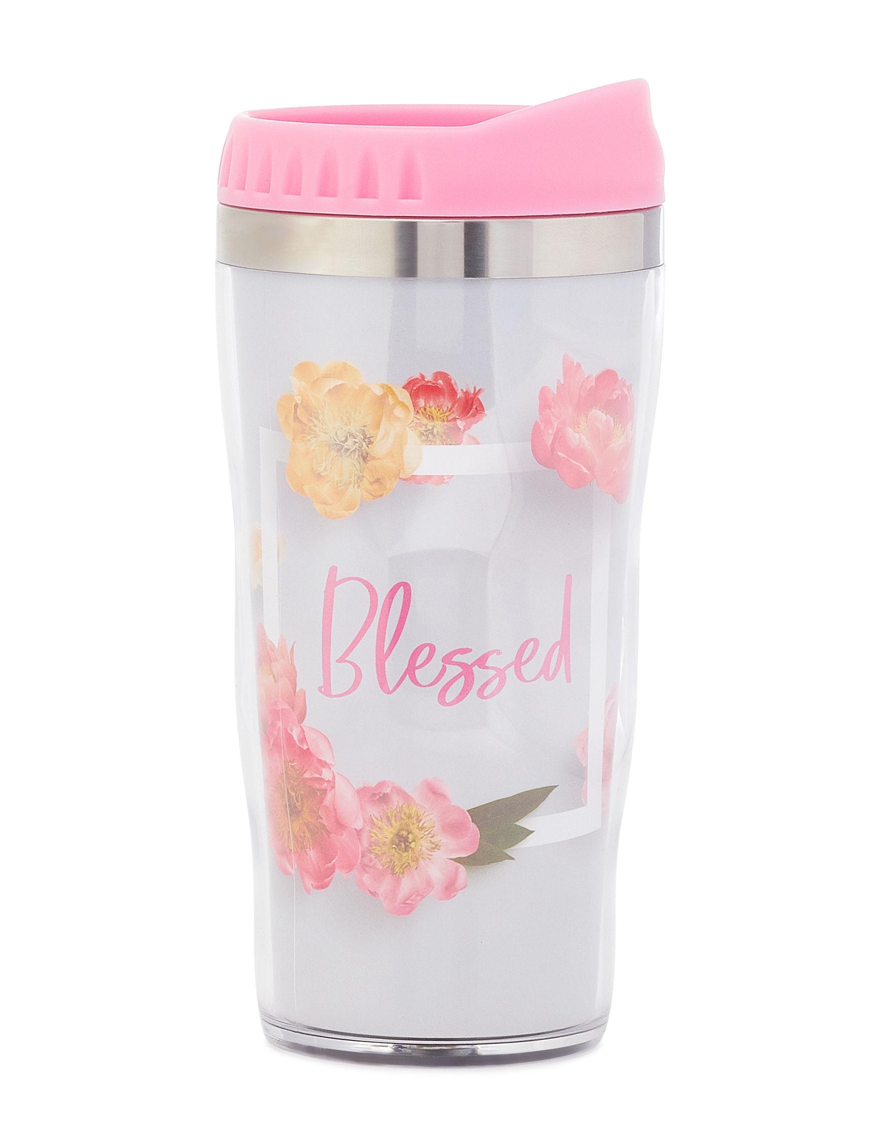 Tri Coastal Pink Floral Mugs Drinkware