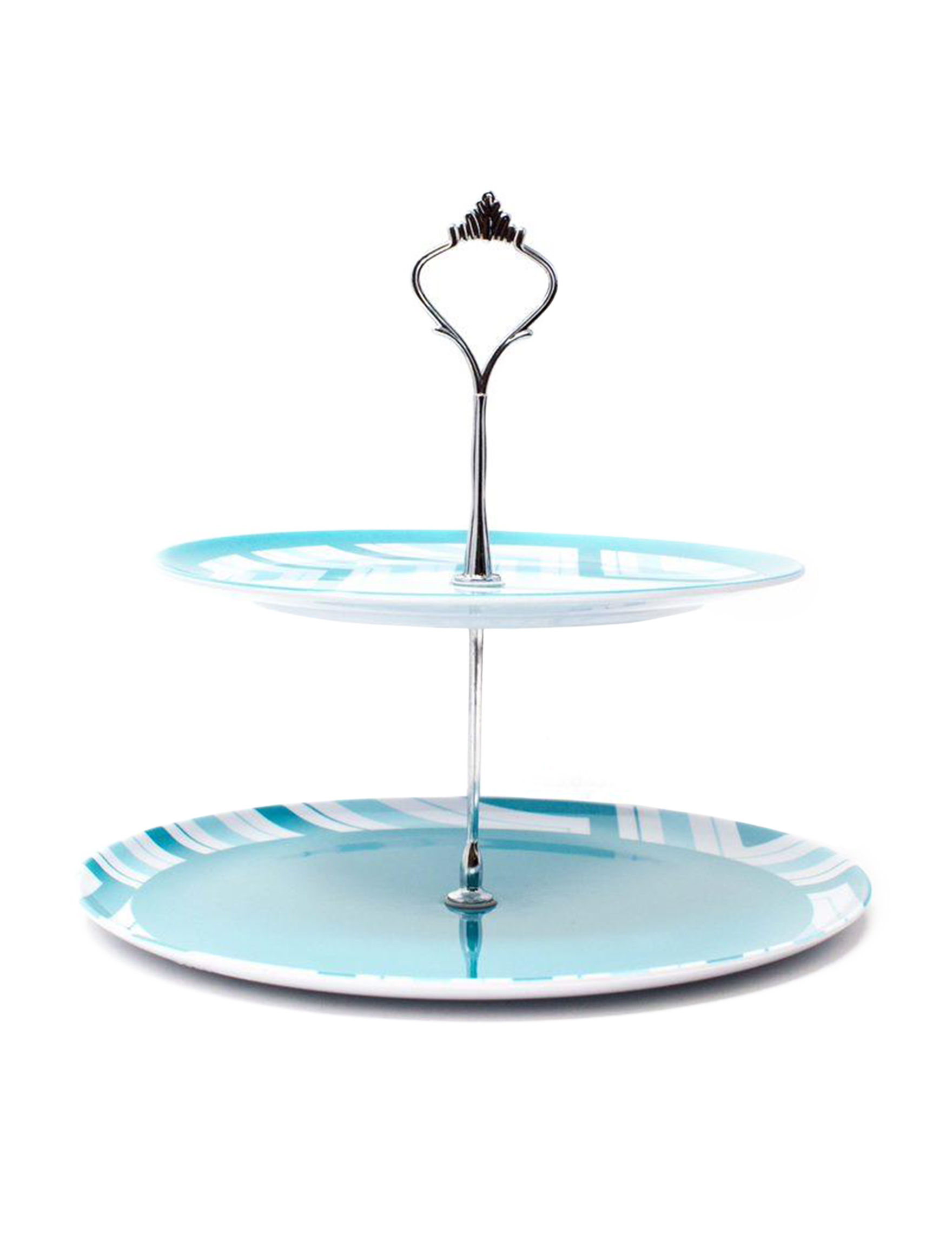 Edge Home Blue / White Cake Stands & Tiered Servers Serveware