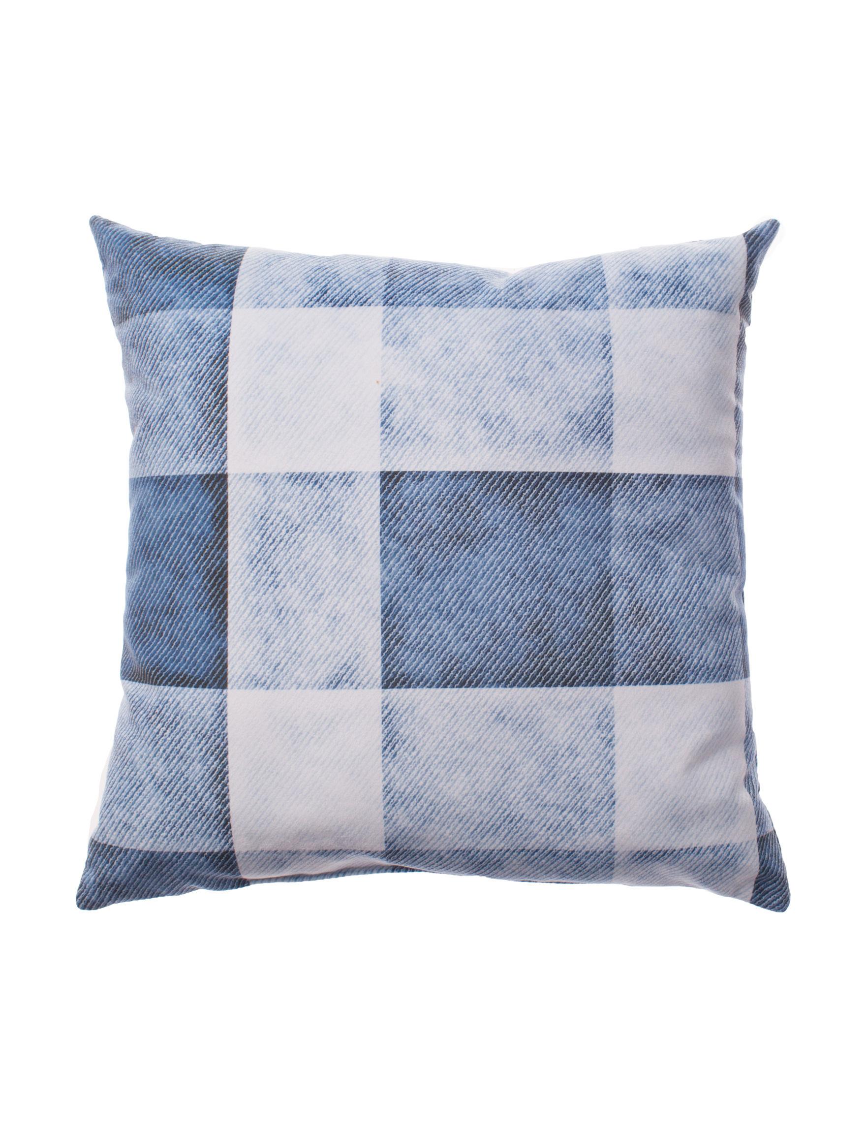 Home Fashions International Blue Multi Decorative Pillows