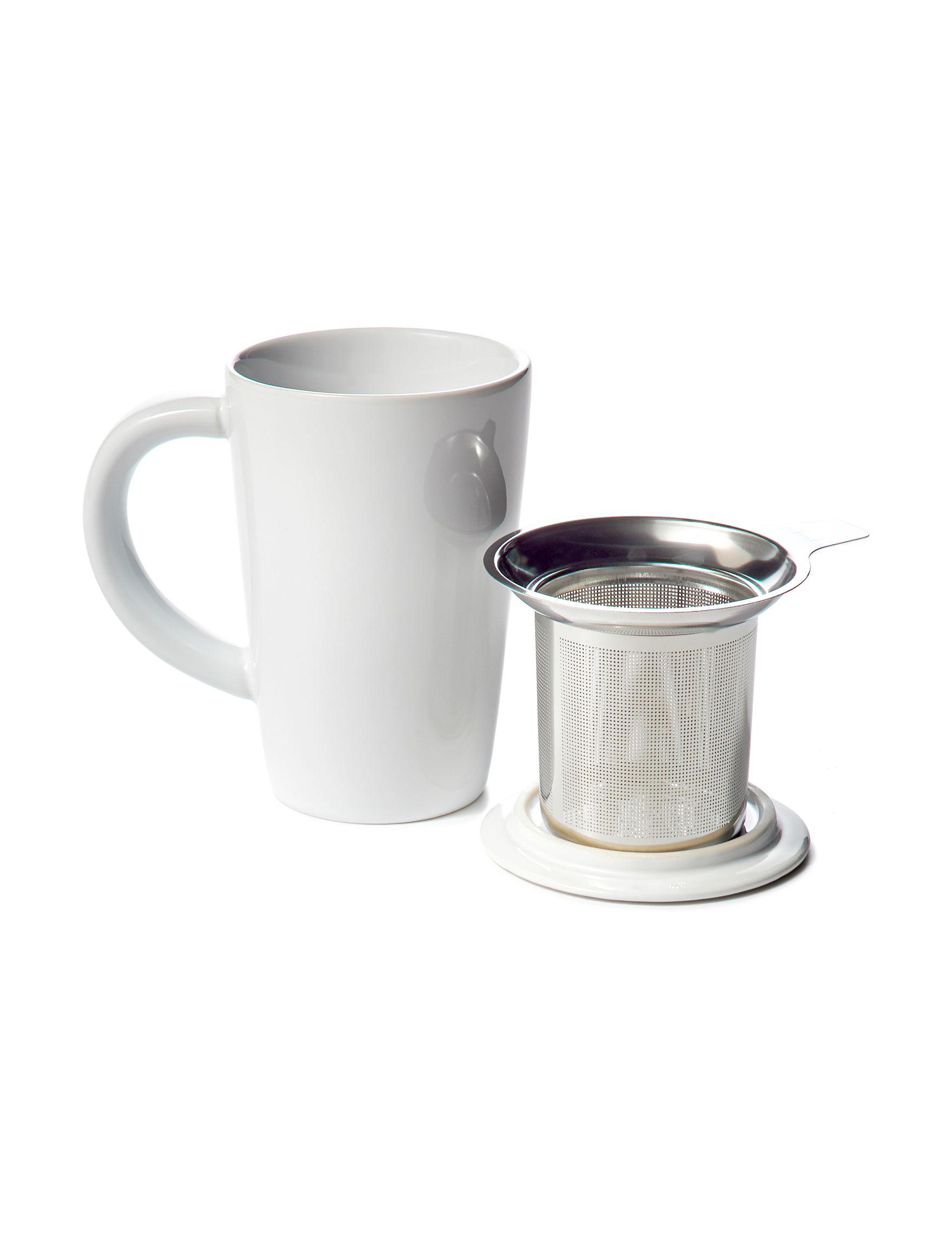Primula White / Silver Mugs Teapots Drinkware