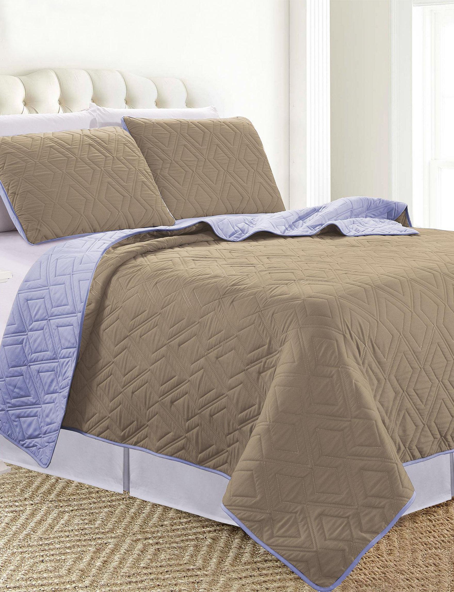 Sanctuary Brown / Purple Quilts & Quilt Sets