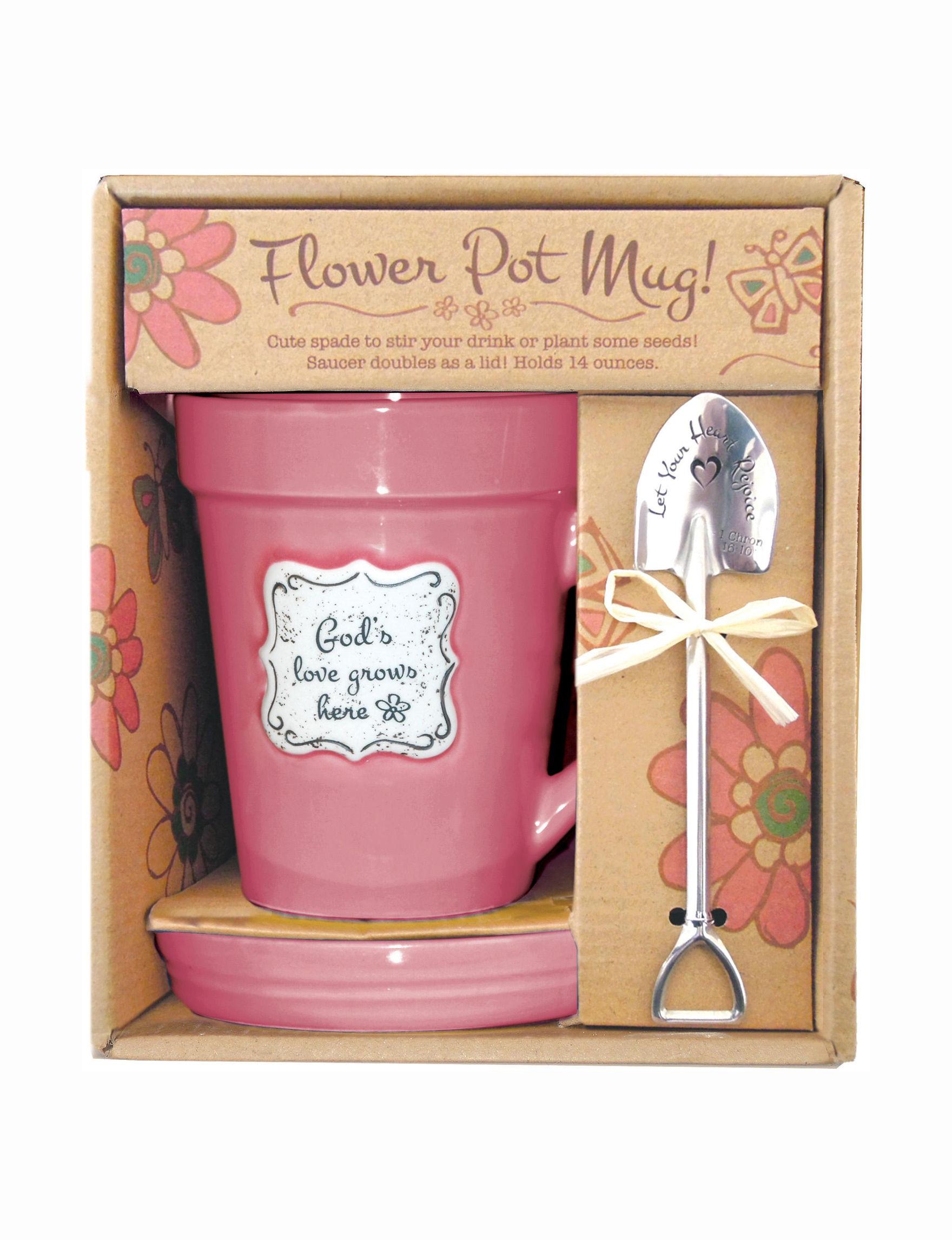 Divinity Dark Pink Garden Decor & Planters Mugs Drinkware Outdoor Decor
