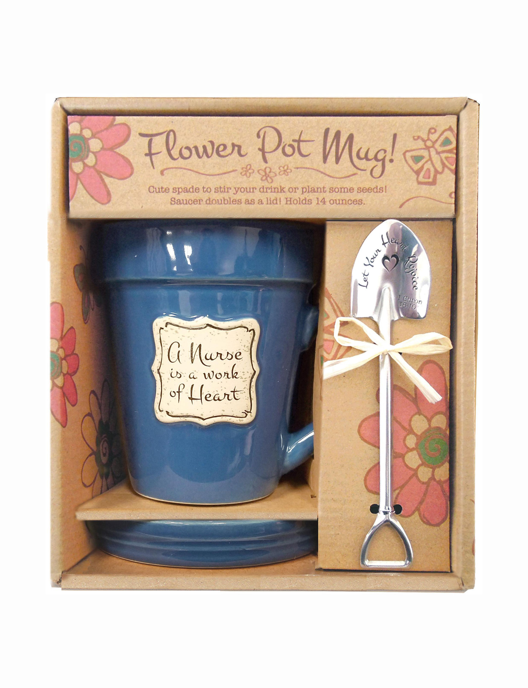 Divinity Blue Garden Decor & Planters Mugs Drinkware Outdoor Decor