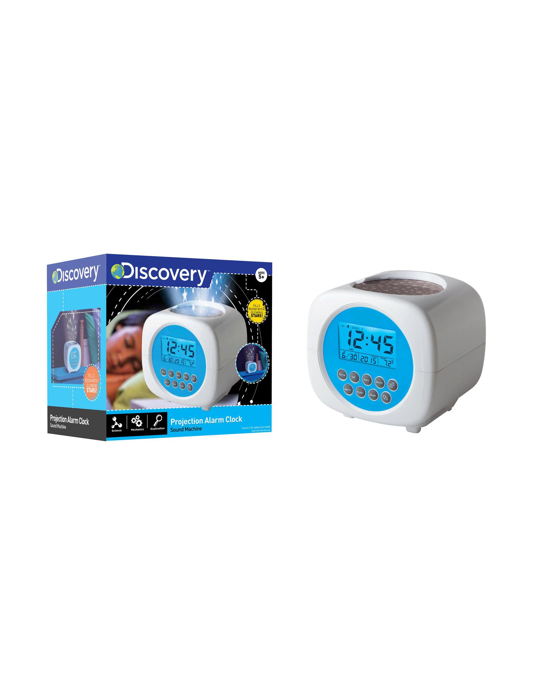 Discovery Kids White Clocks