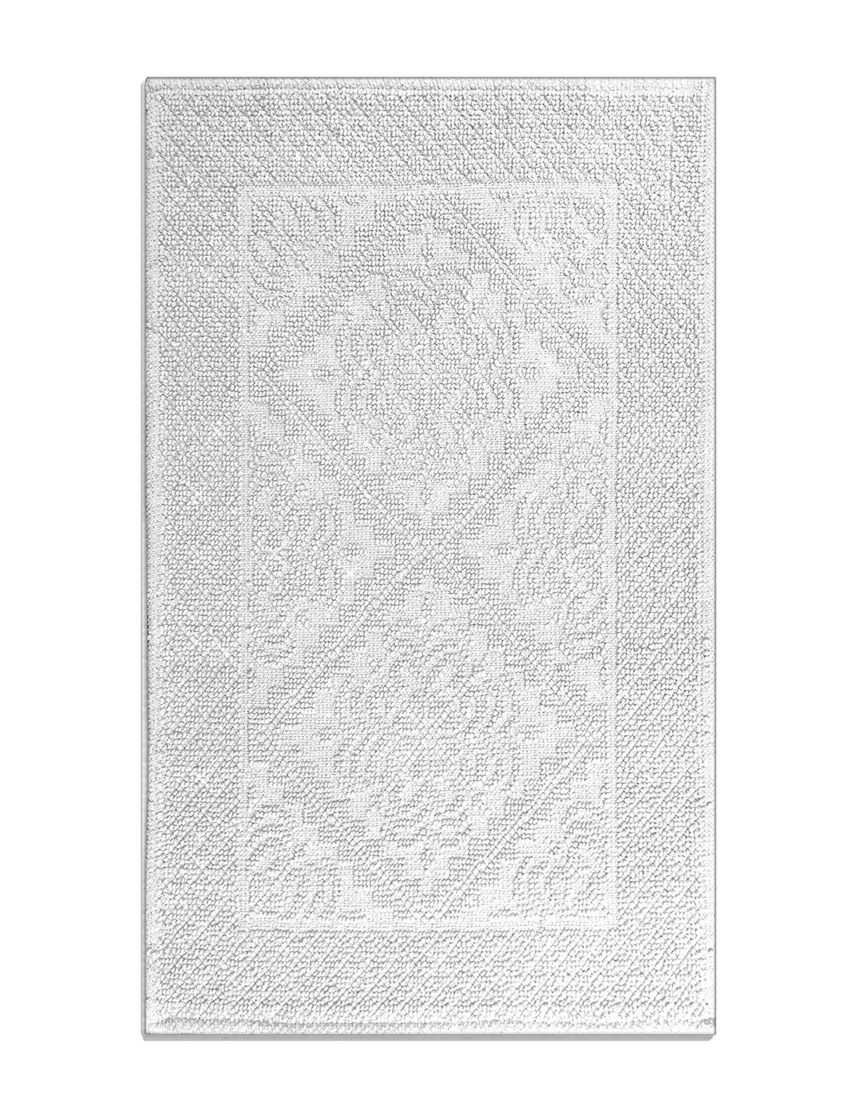 Idea Nuova White Bath Rugs & Mats