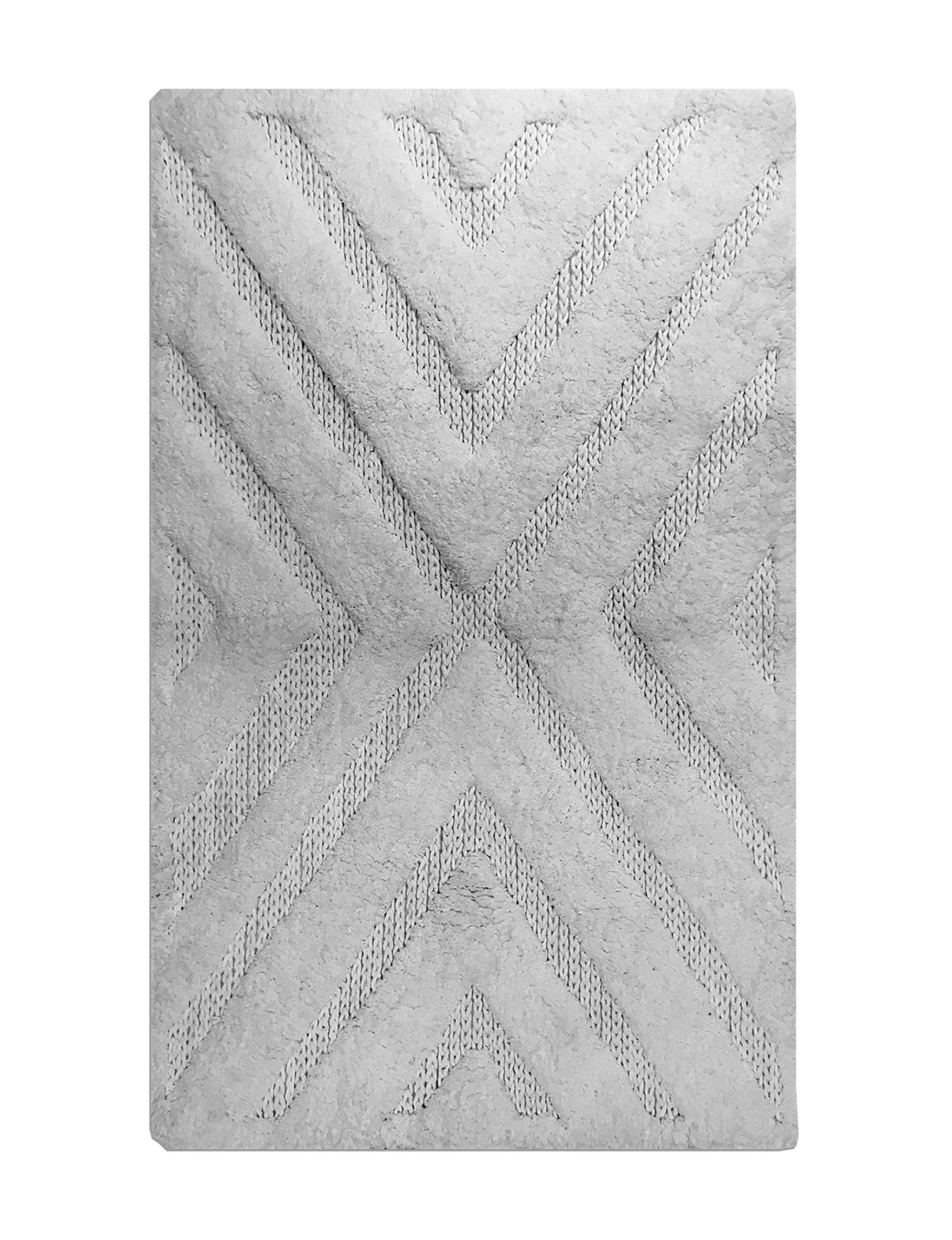 Style House White Accent Rugs Bath Rugs & Mats