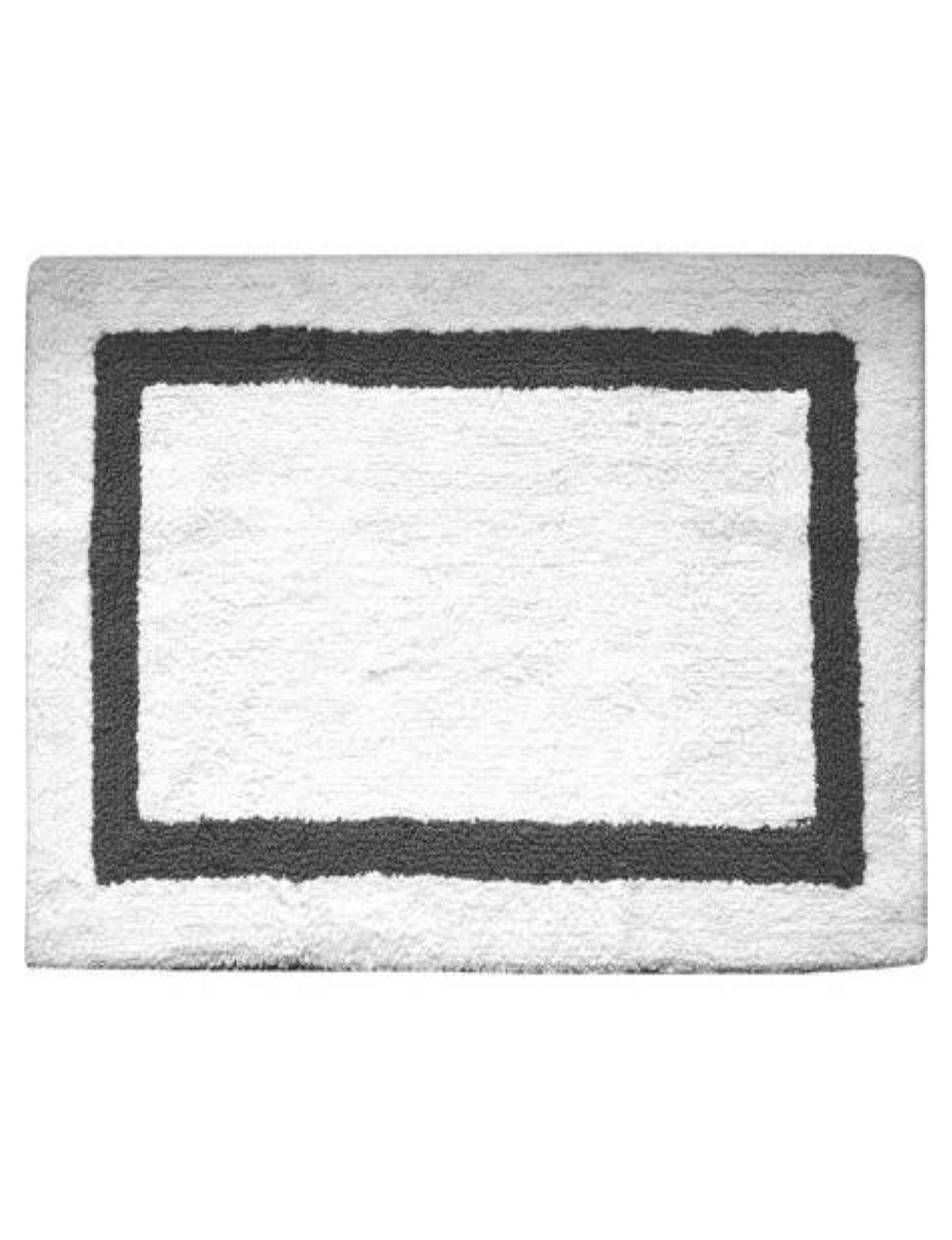 Idea Nuova Grey / Black Bath Rugs & Mats