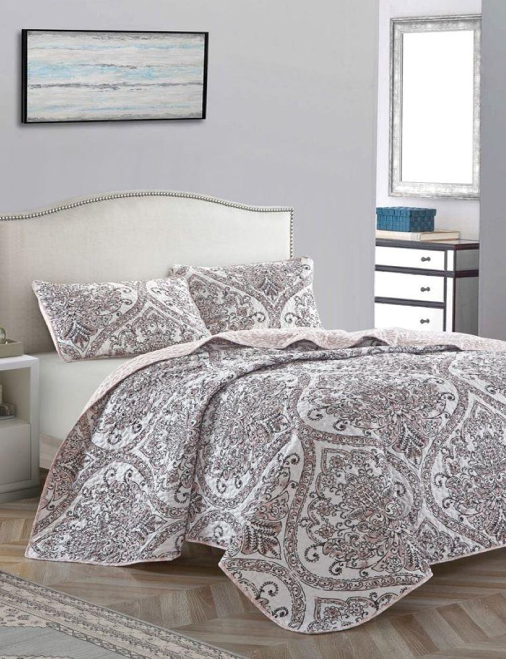 Parklane Blush / Multi Quilts & Quilt Sets