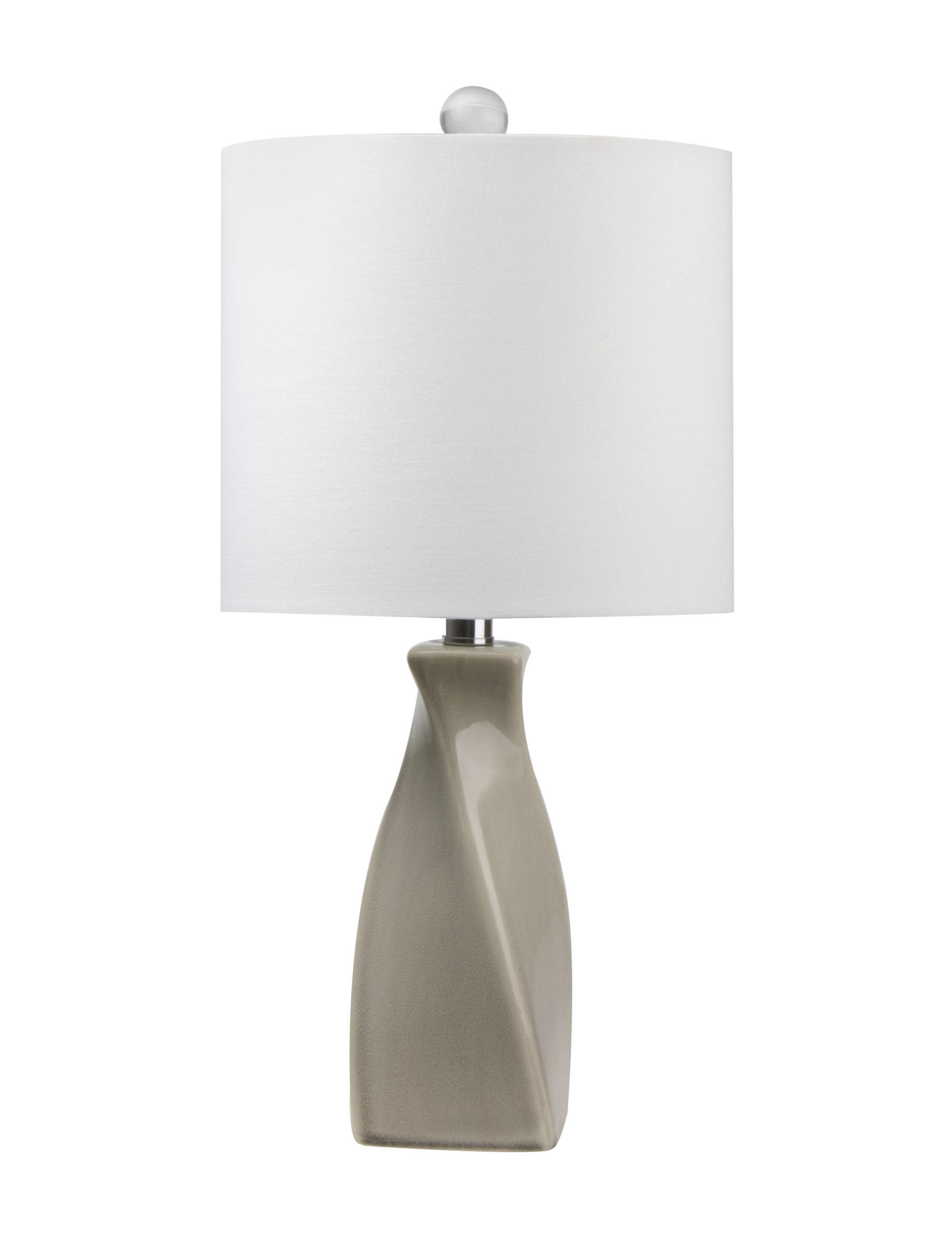 Grandview Gallery Beige / White Table Lamps Lighting & Lamps