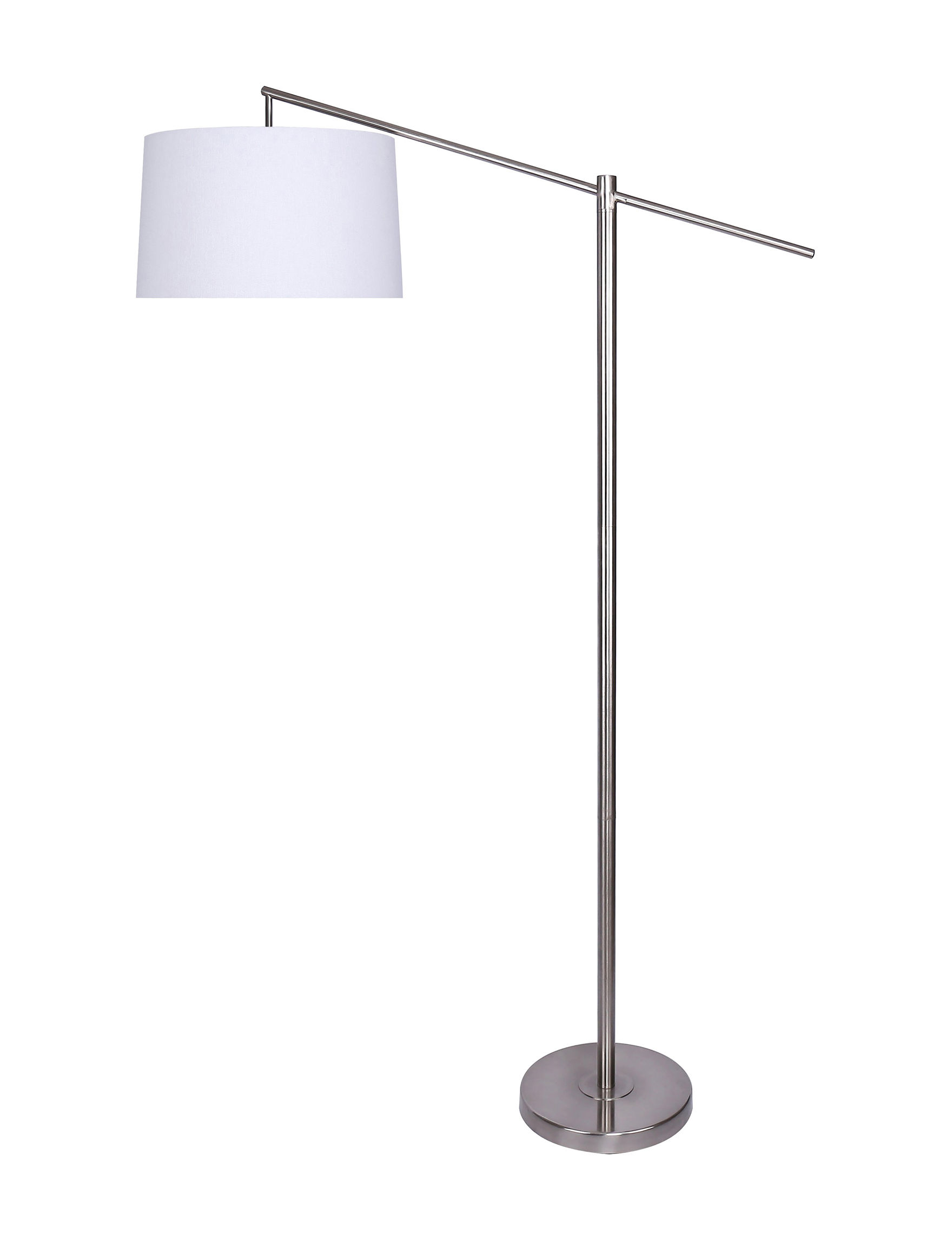 Grandview Gallery Silver / White Floor Lamps Lighting & Lamps