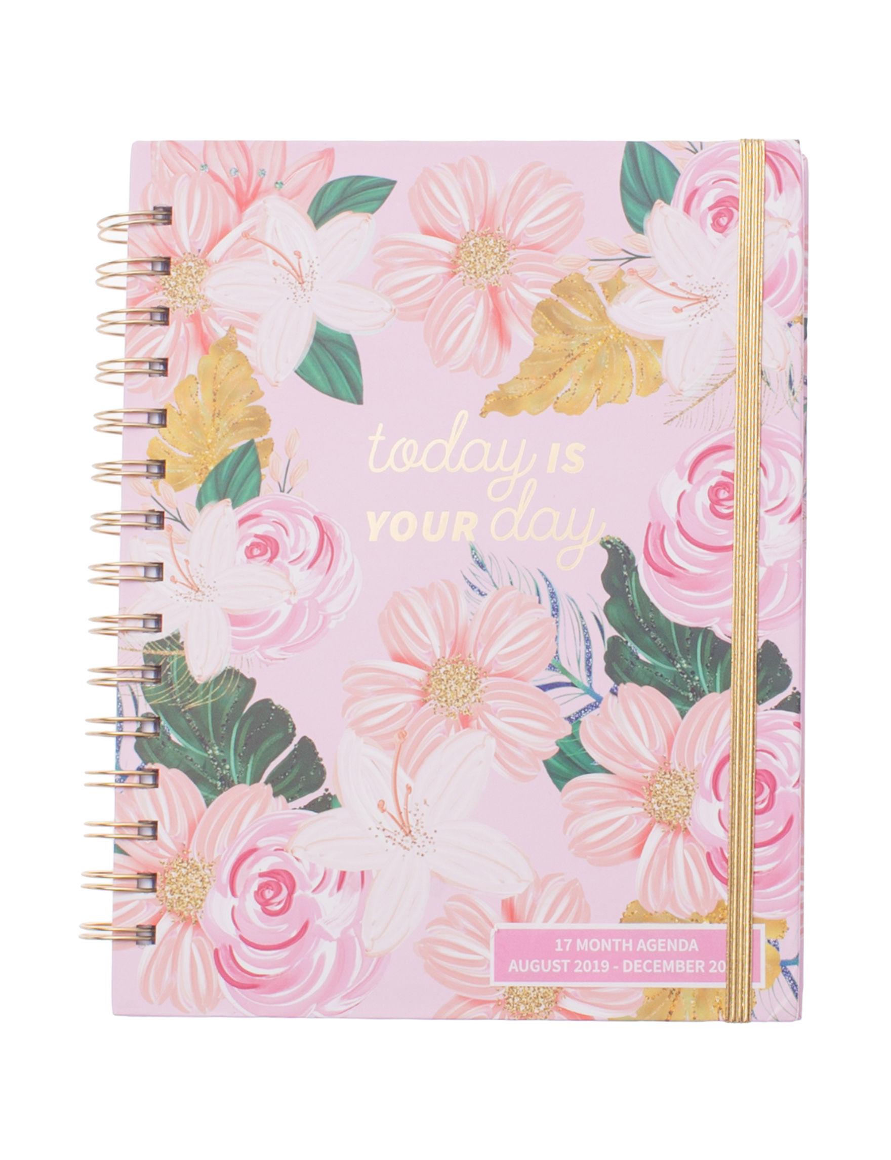 Tri Coastal Pink Calendars & Planners Journals & Notepads School & Office Supplies