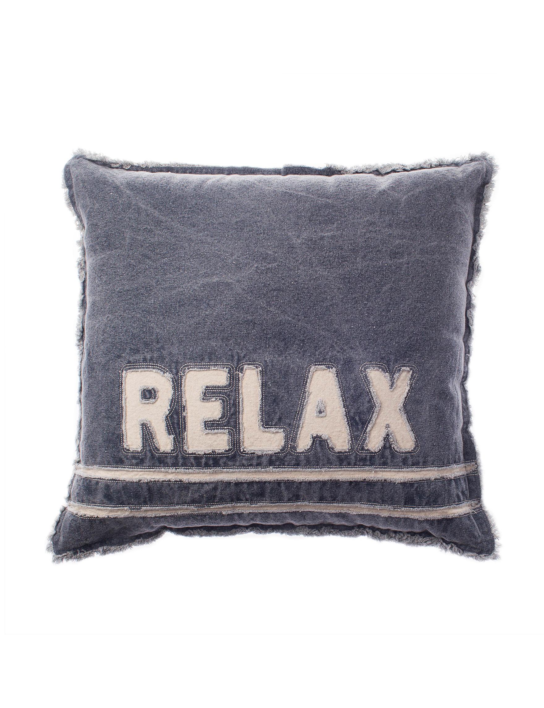 Dream Home NY Denim / Beige Decorative Pillows