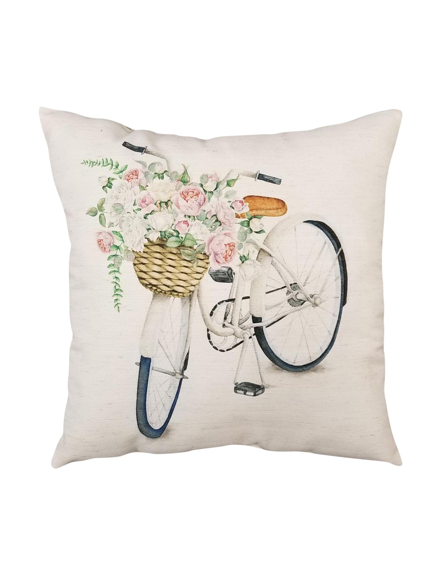 Home Fashions International White / Multi Decorative Pillows