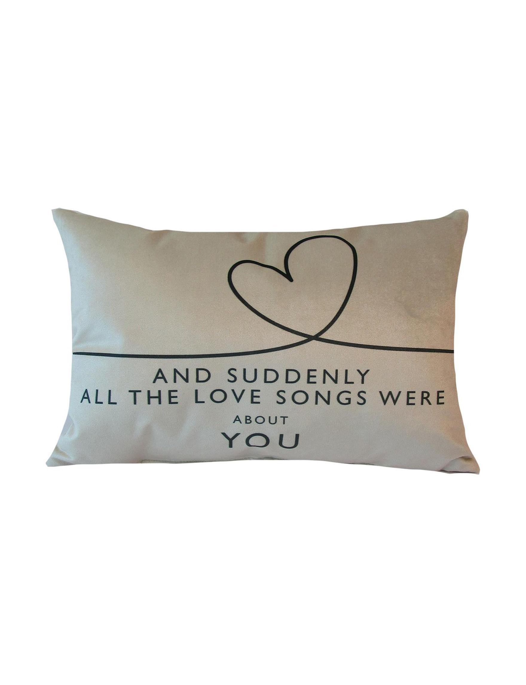 Home Fashions International Natural Decorative Pillows