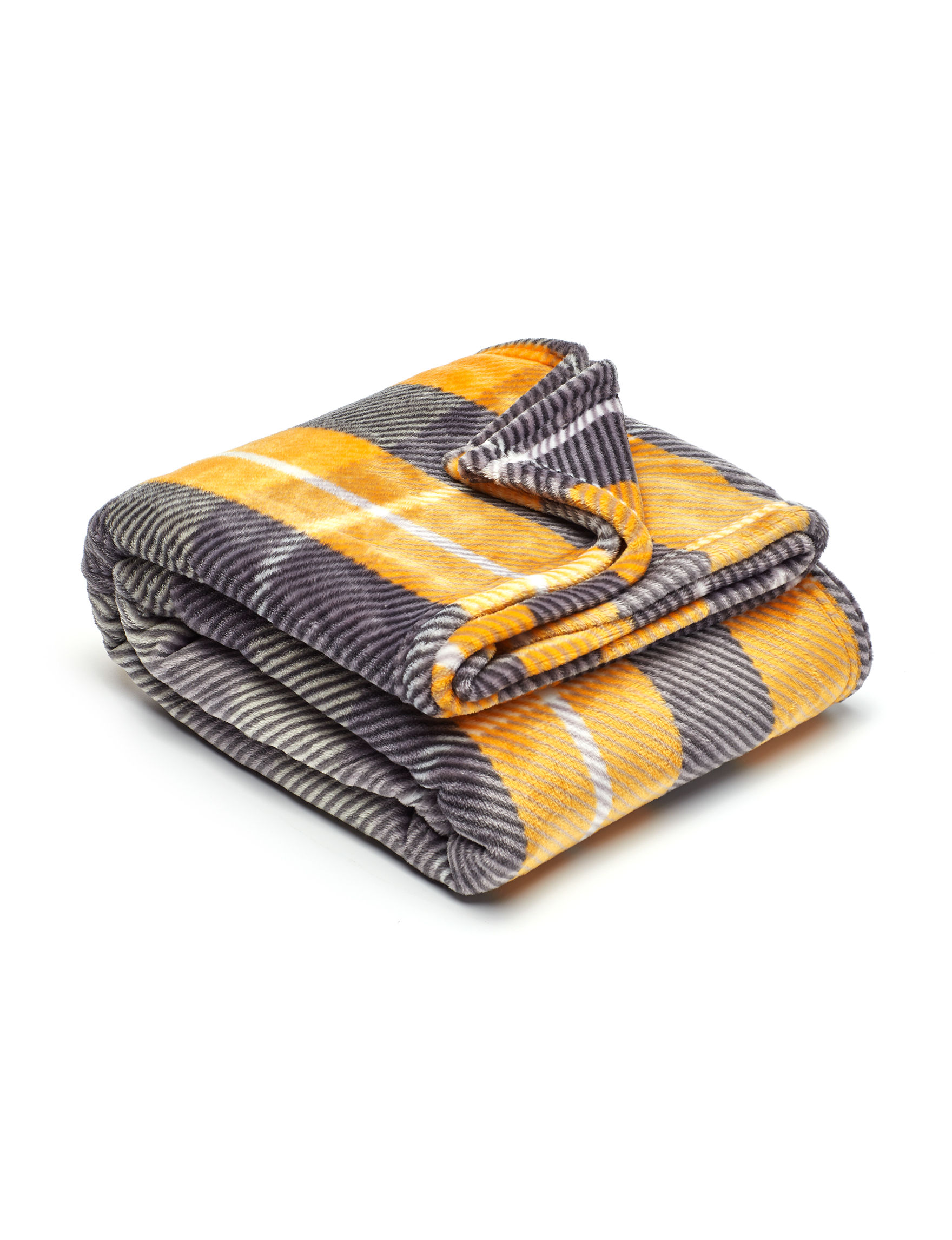 Dream Home NY Yellow / Blue / White Blankets & Throws
