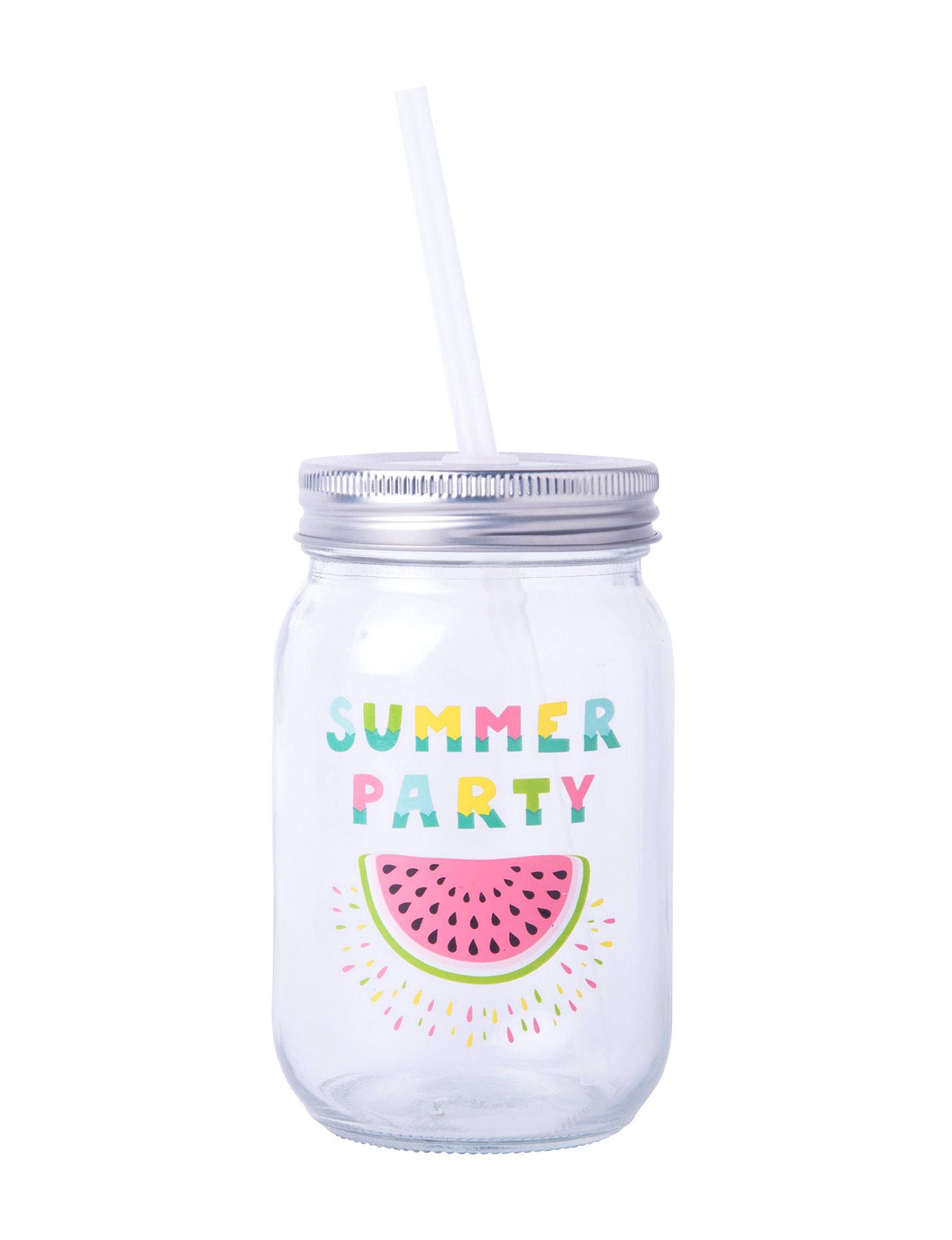Home Essentials White / Silver Mugs Drinkware