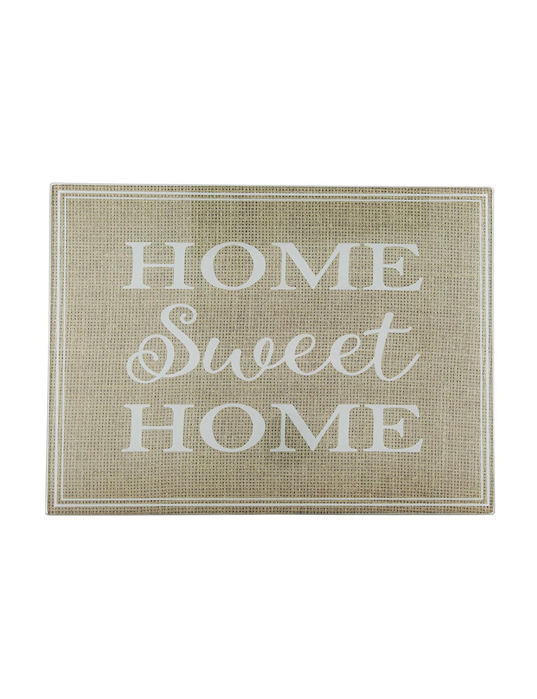 Home Essentials Tan / White Cutting Boards Prep & Tools