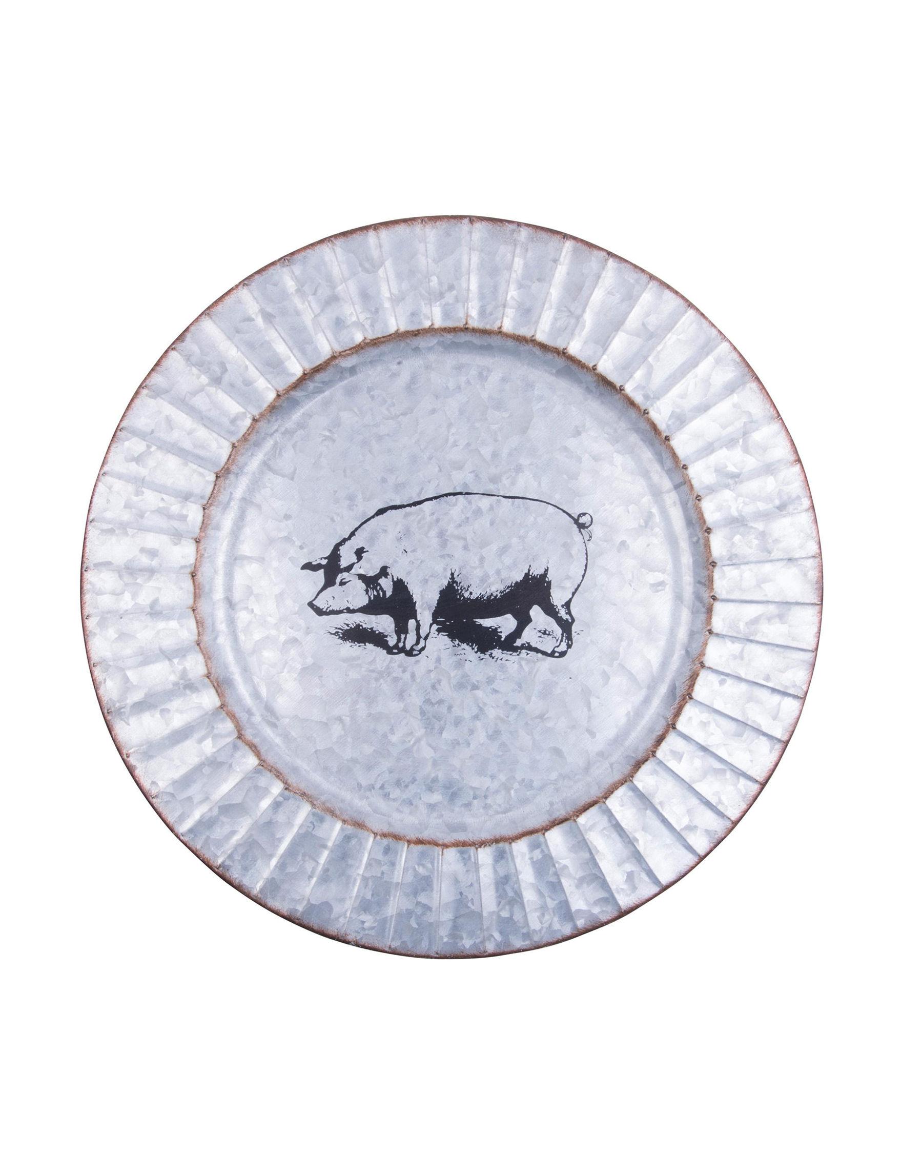 Home Essentials Silver / Brown Serveware