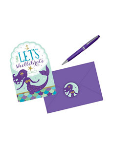 Amscan Purple Multi Invitations & Thank You Notes