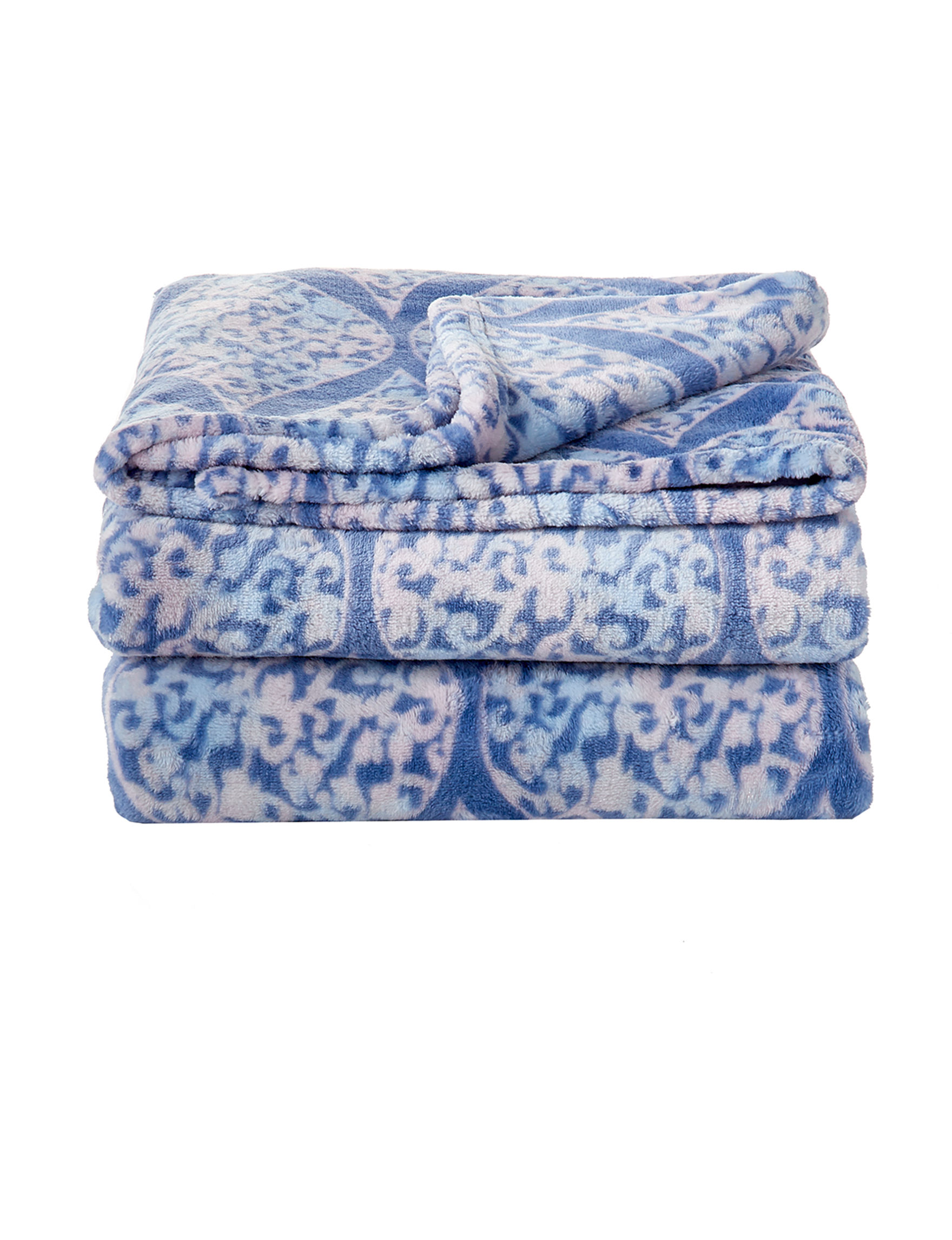 Dream Home NY Blue Blankets & Throws