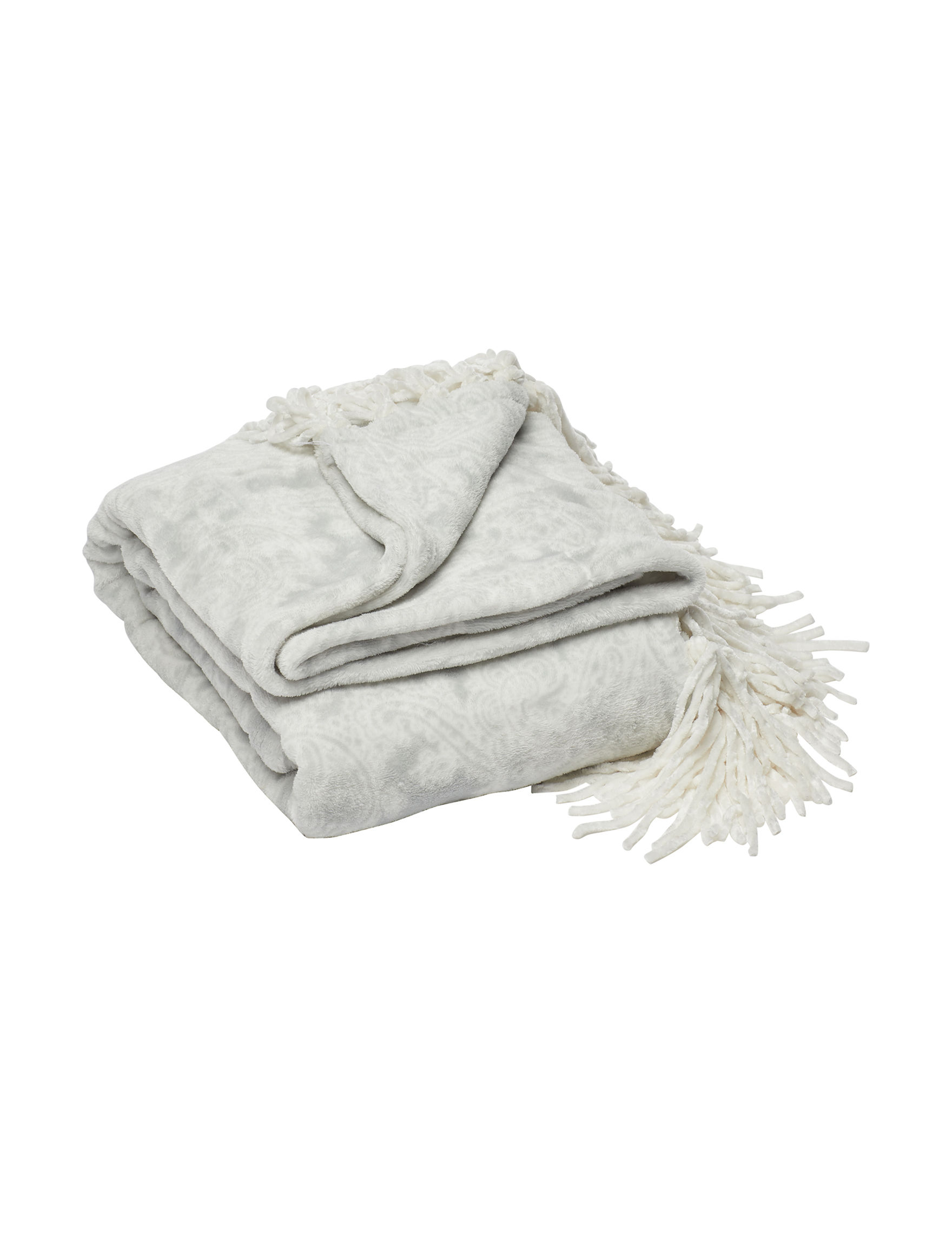 Celebrity Home Grey Blankets & Throws