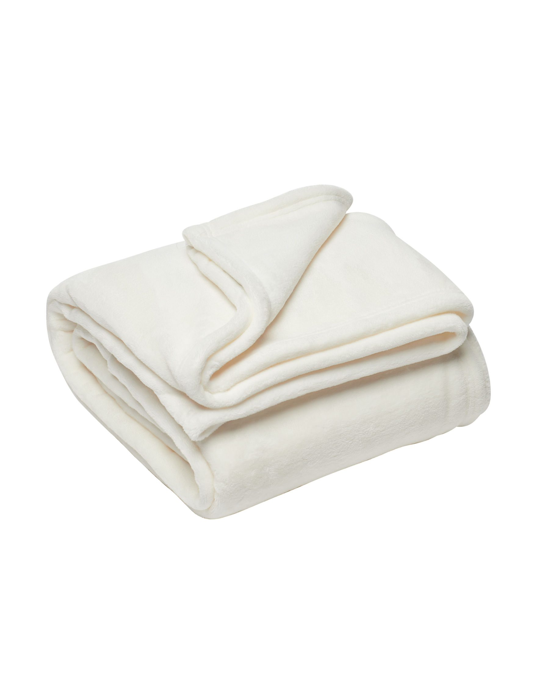 Celebrity Home Ivory Blankets & Throws