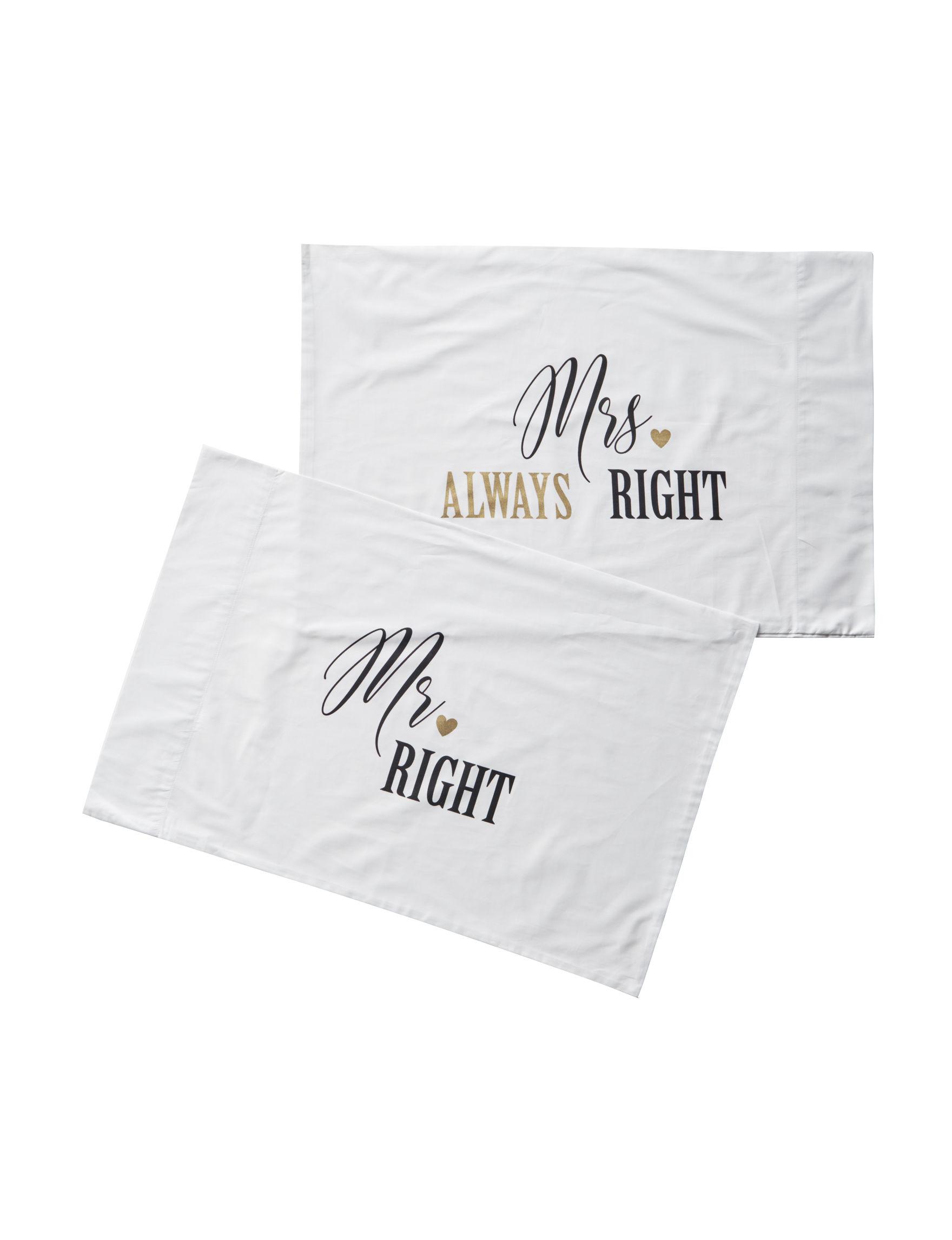 Pillow Xpressions White / Black Sheets